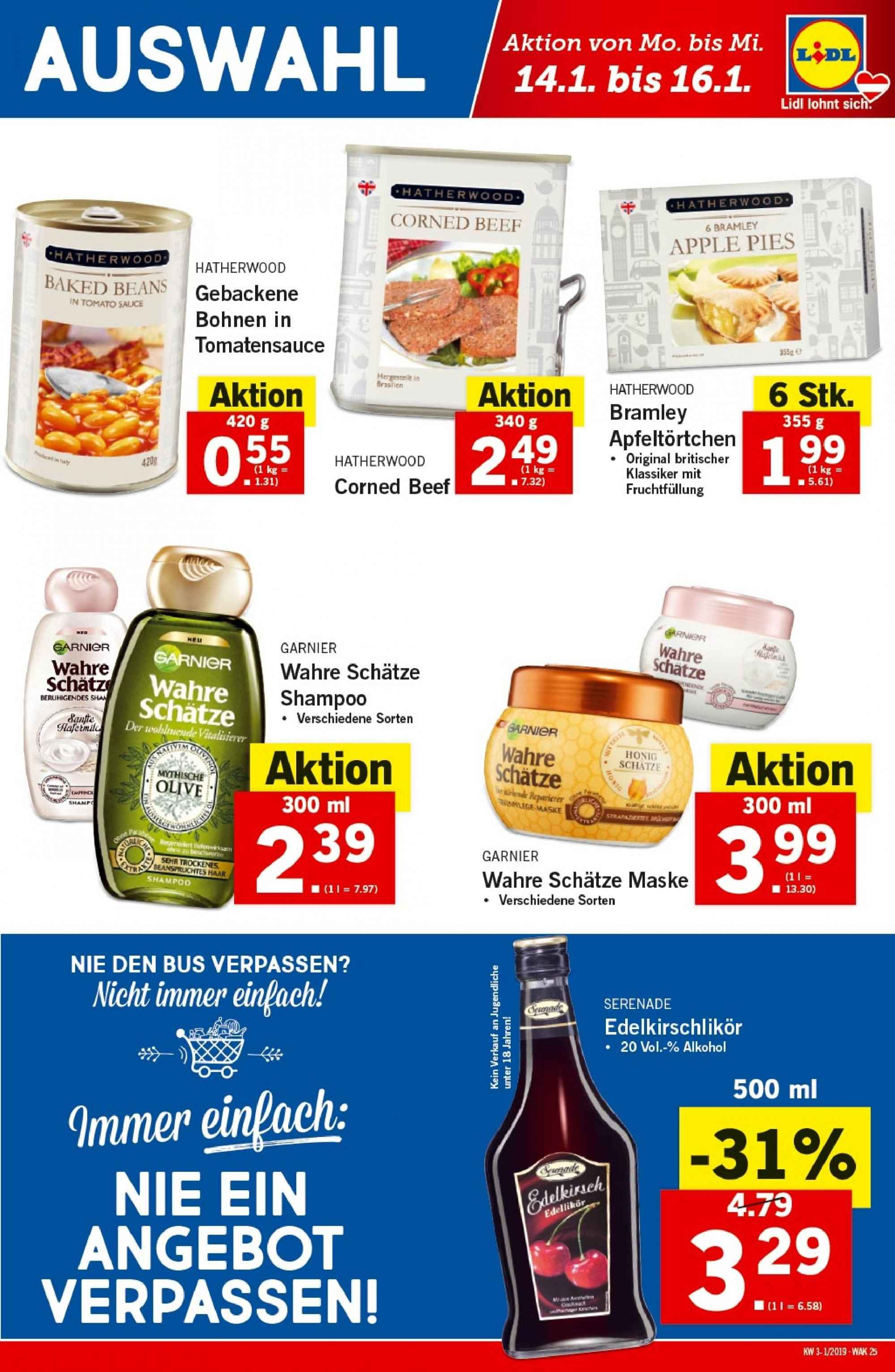 Angebote Lidl - 10.1.2019 - 16.1.2019. Seite 25.