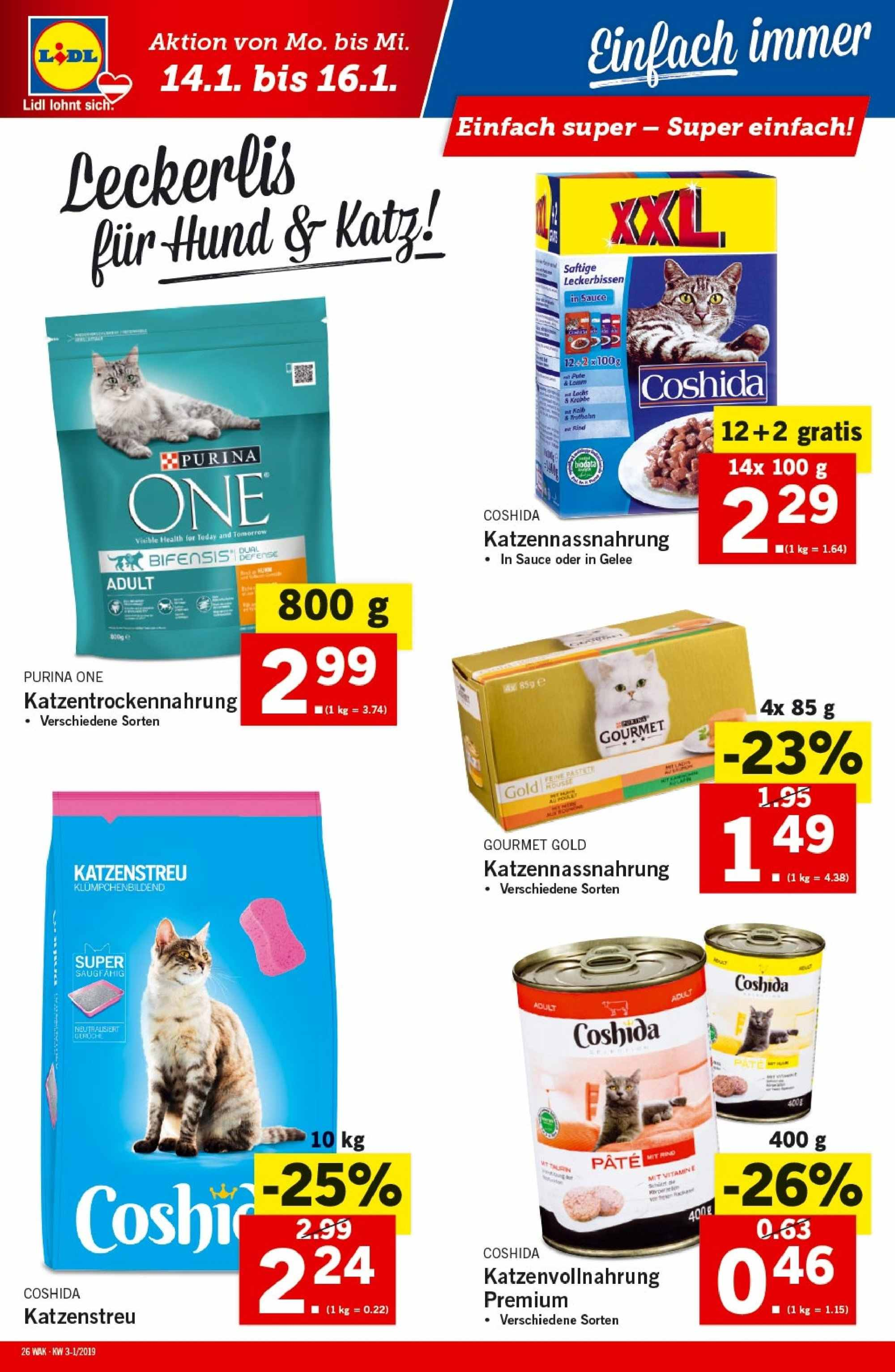 Angebote Lidl - 10.1.2019 - 16.1.2019. Seite 26.