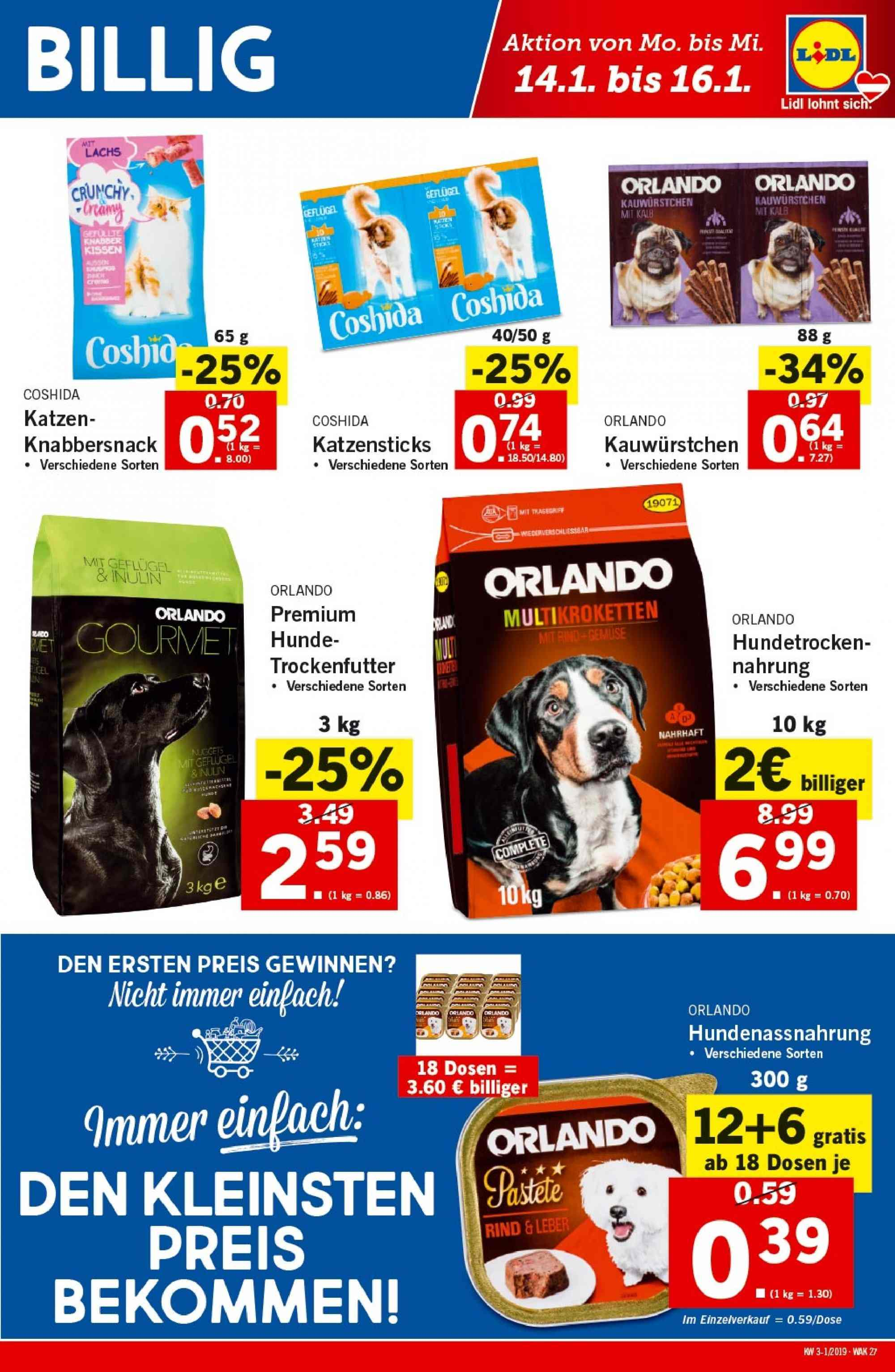 Angebote Lidl - 10.1.2019 - 16.1.2019. Seite 27.