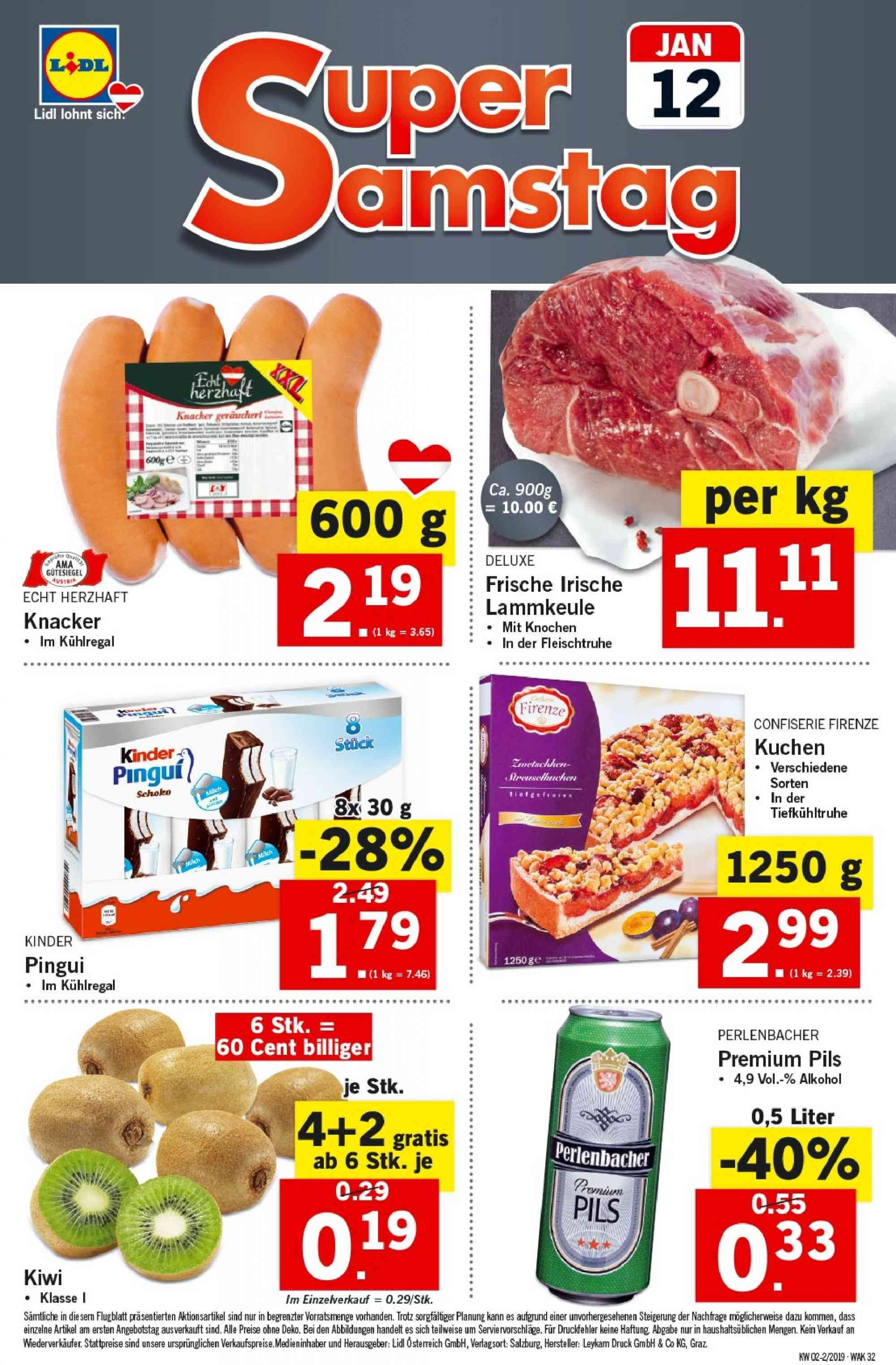 Angebote Lidl - 10.1.2019 - 16.1.2019. Seite 32.