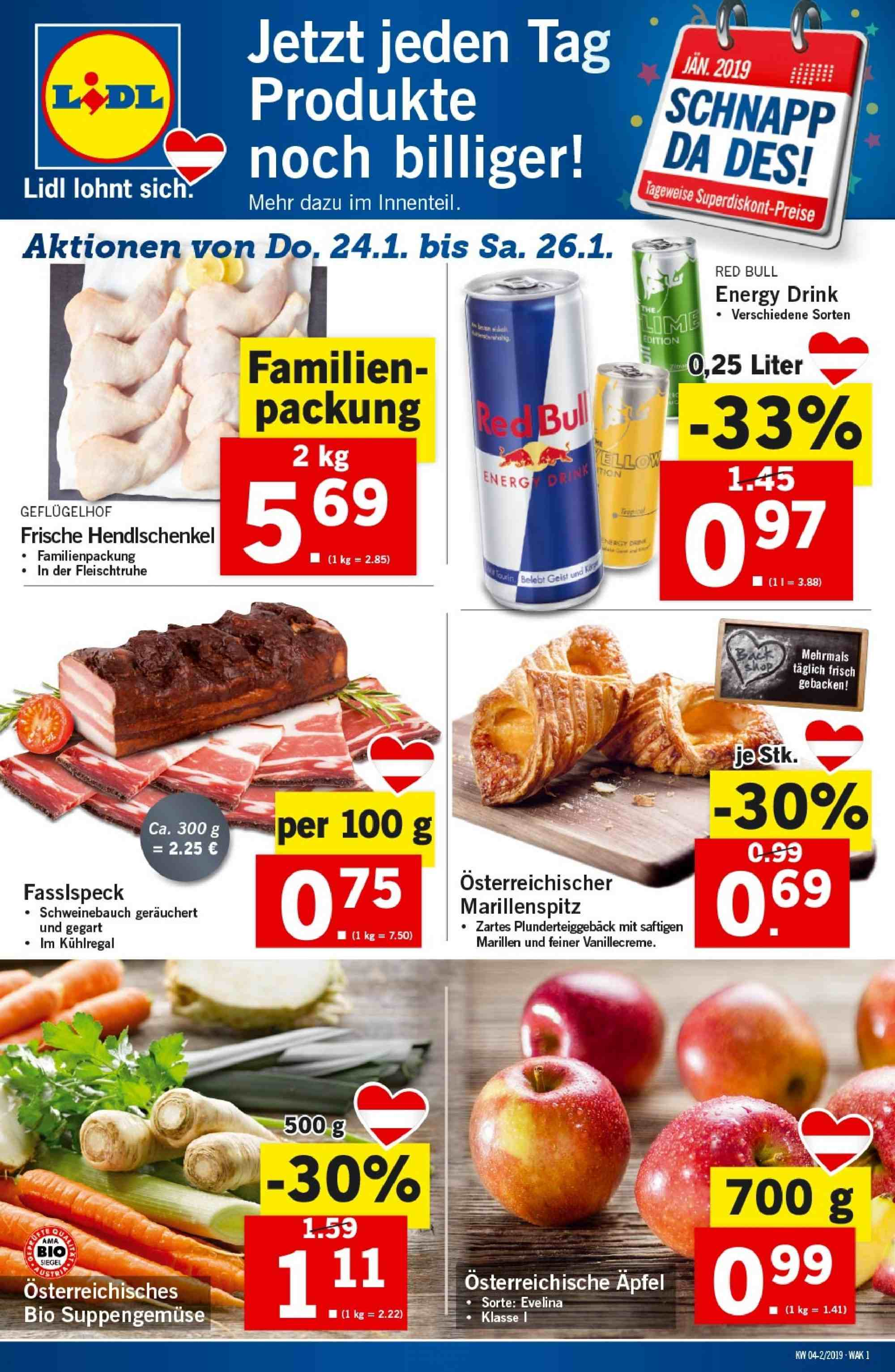 Angebote Lidl - 24.1.2019 - 30.1.2019. Seite 1.