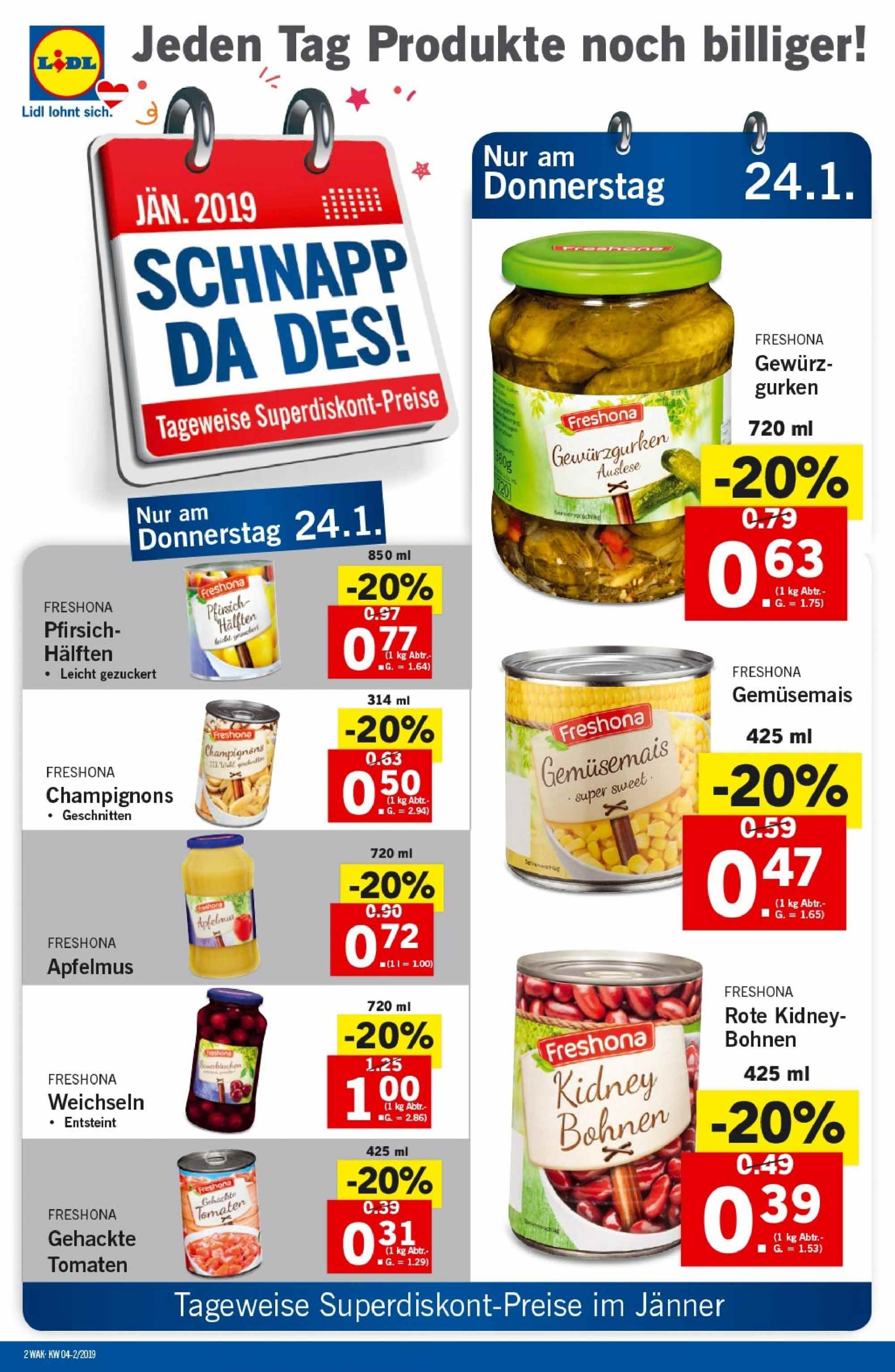 Angebote Lidl - 24.1.2019 - 30.1.2019. Seite 2.