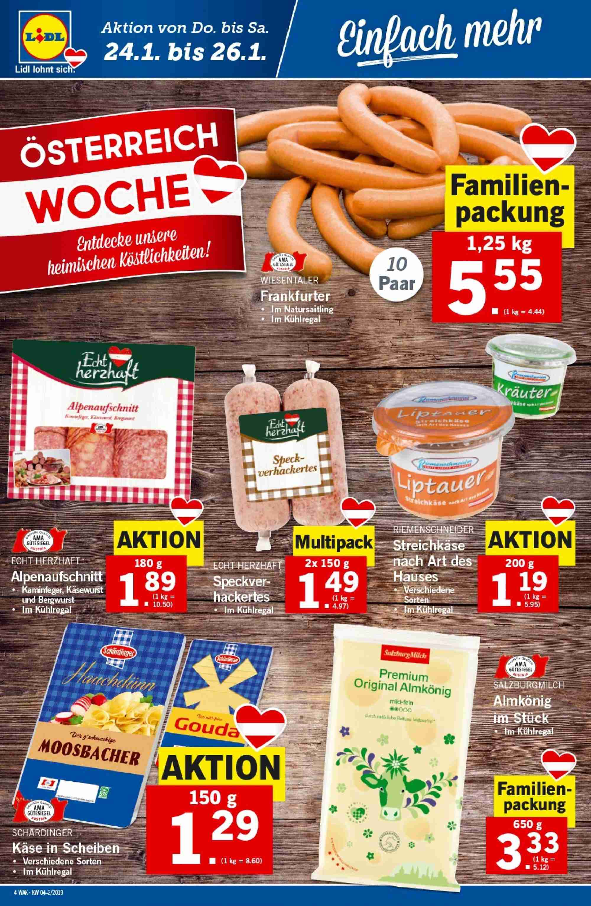 Angebote Lidl - 24.1.2019 - 30.1.2019. Seite 4.