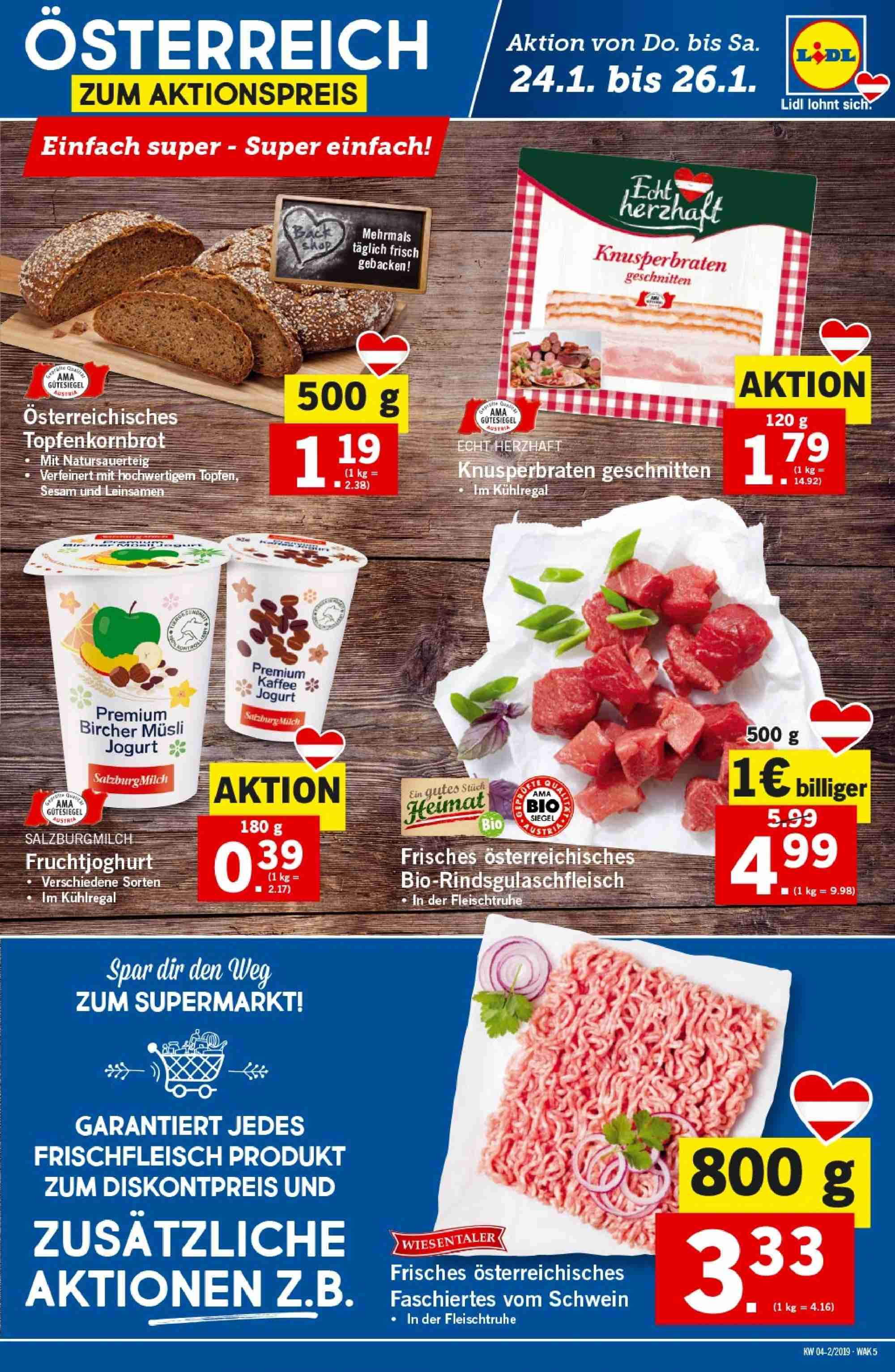 Angebote Lidl - 24.1.2019 - 30.1.2019. Seite 5.