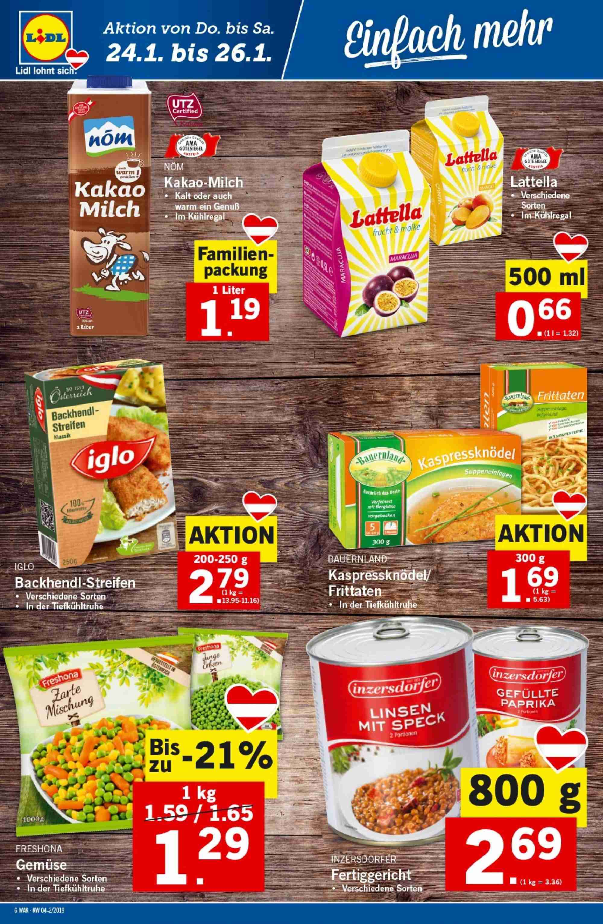 Angebote Lidl - 24.1.2019 - 30.1.2019. Seite 6.