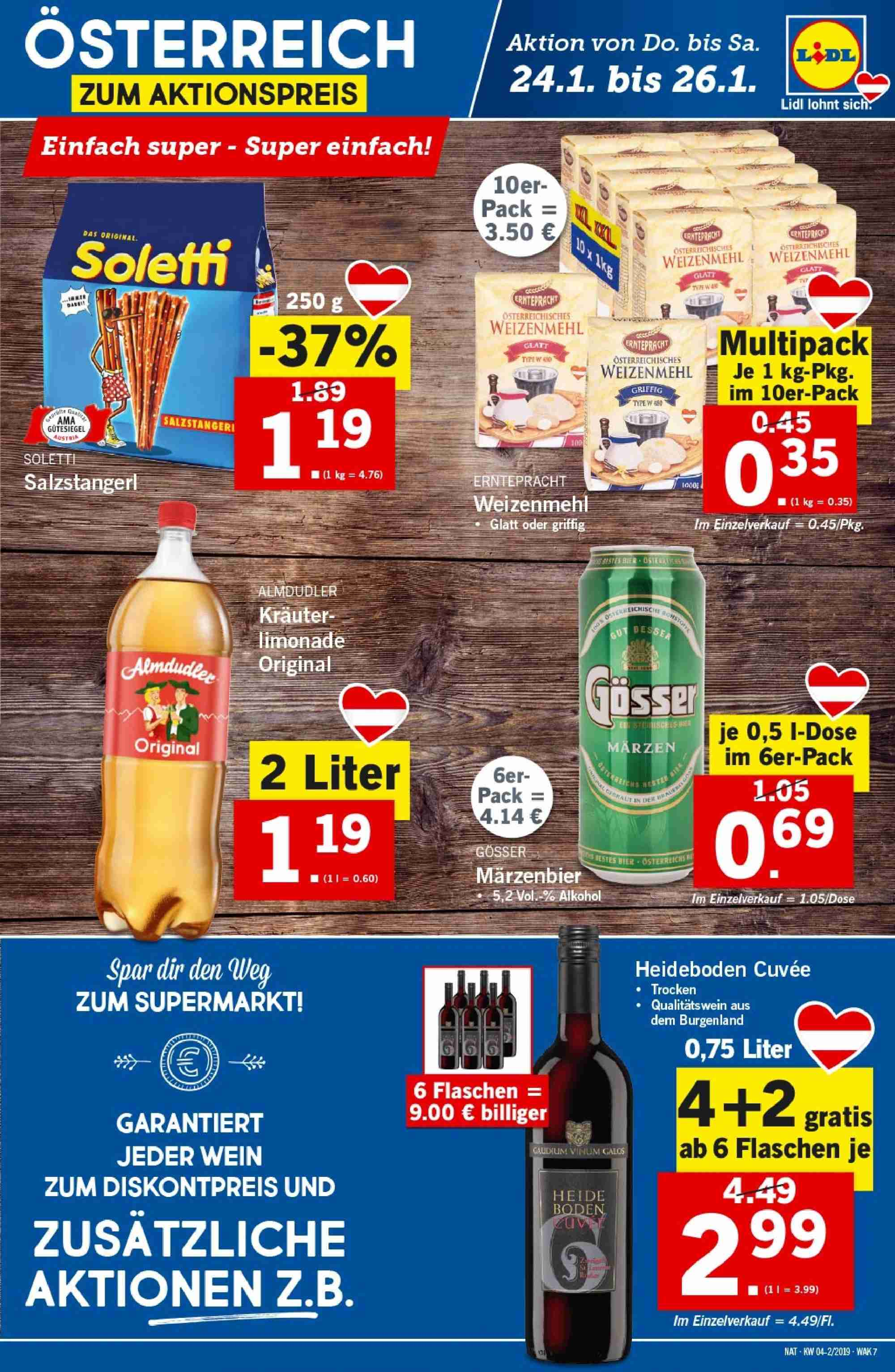 Angebote Lidl - 24.1.2019 - 30.1.2019. Seite 7.