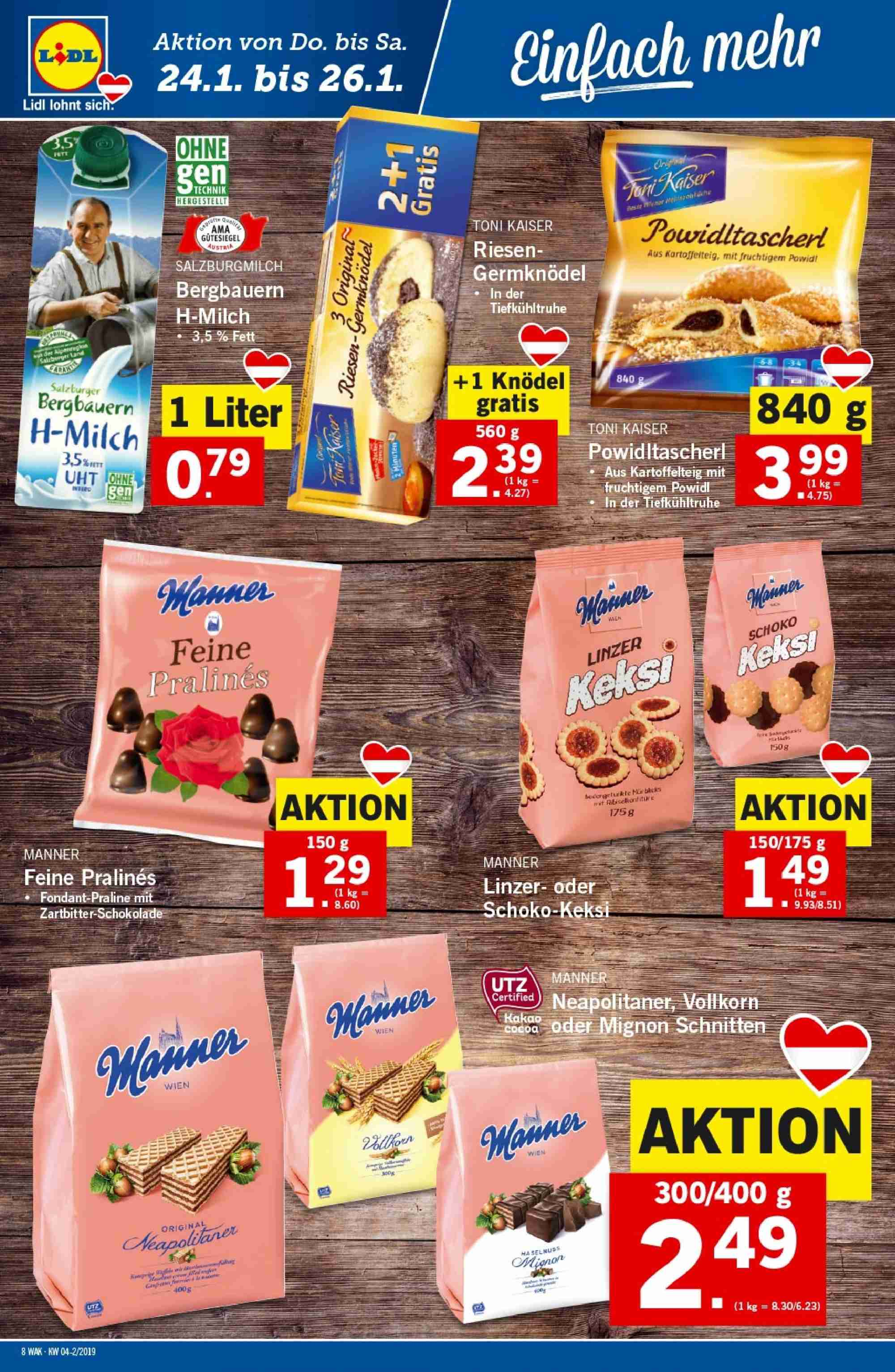 Angebote Lidl - 24.1.2019 - 30.1.2019. Seite 8.