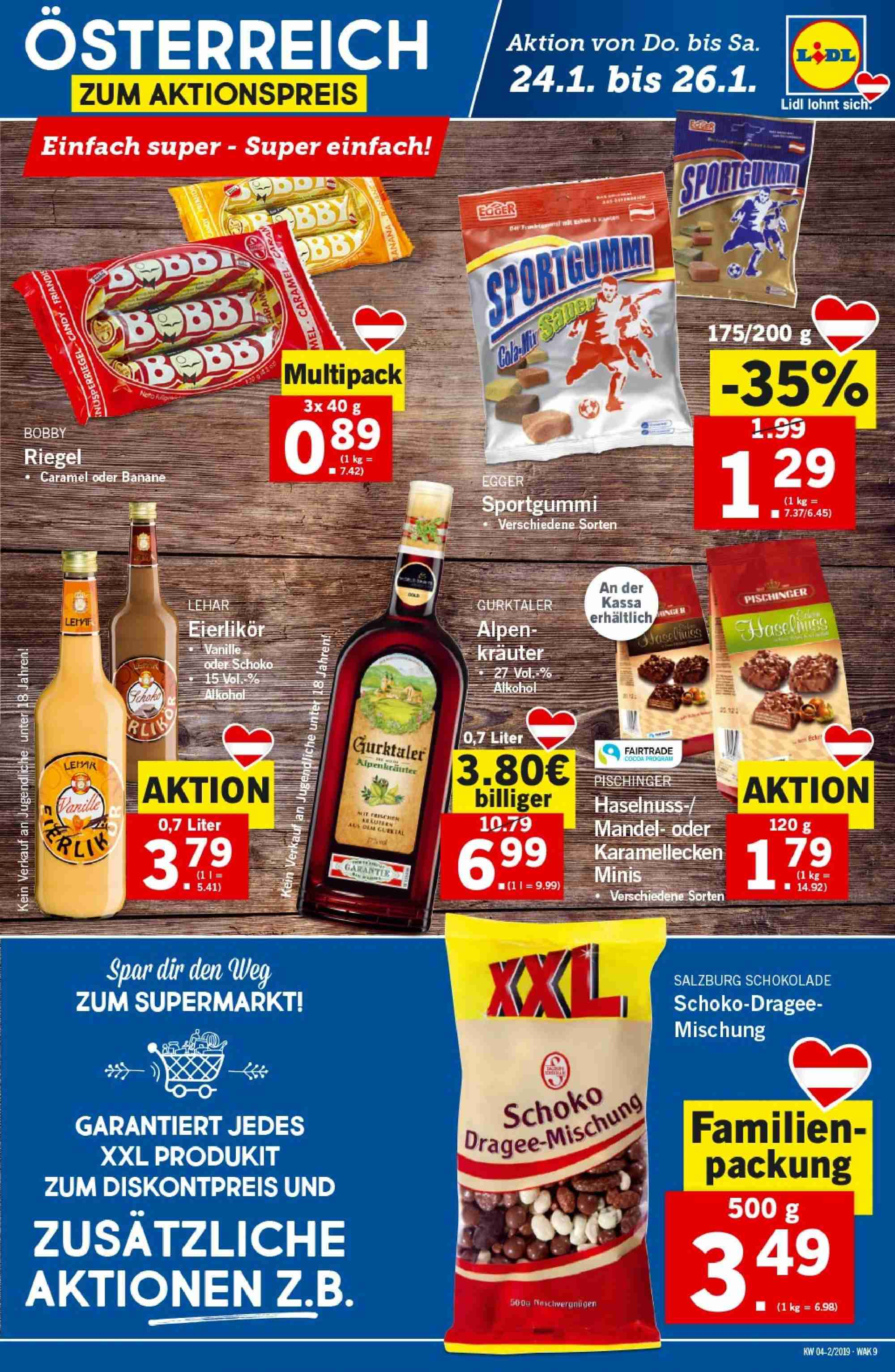 Angebote Lidl - 24.1.2019 - 30.1.2019. Seite 9.