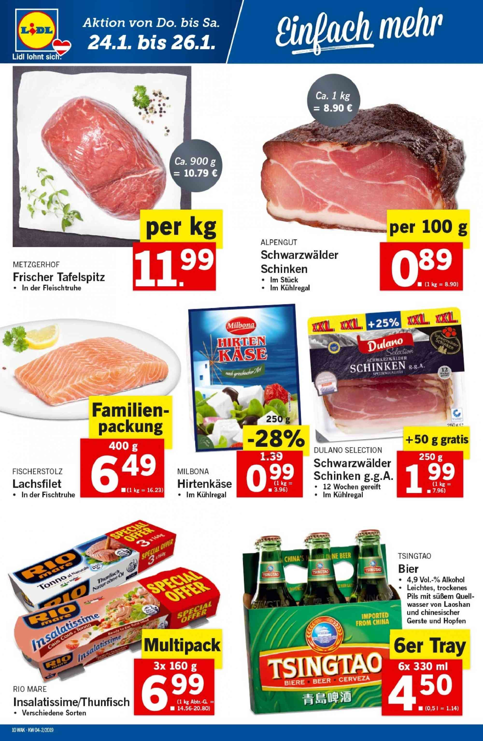 Angebote Lidl - 24.1.2019 - 30.1.2019. Seite 10.