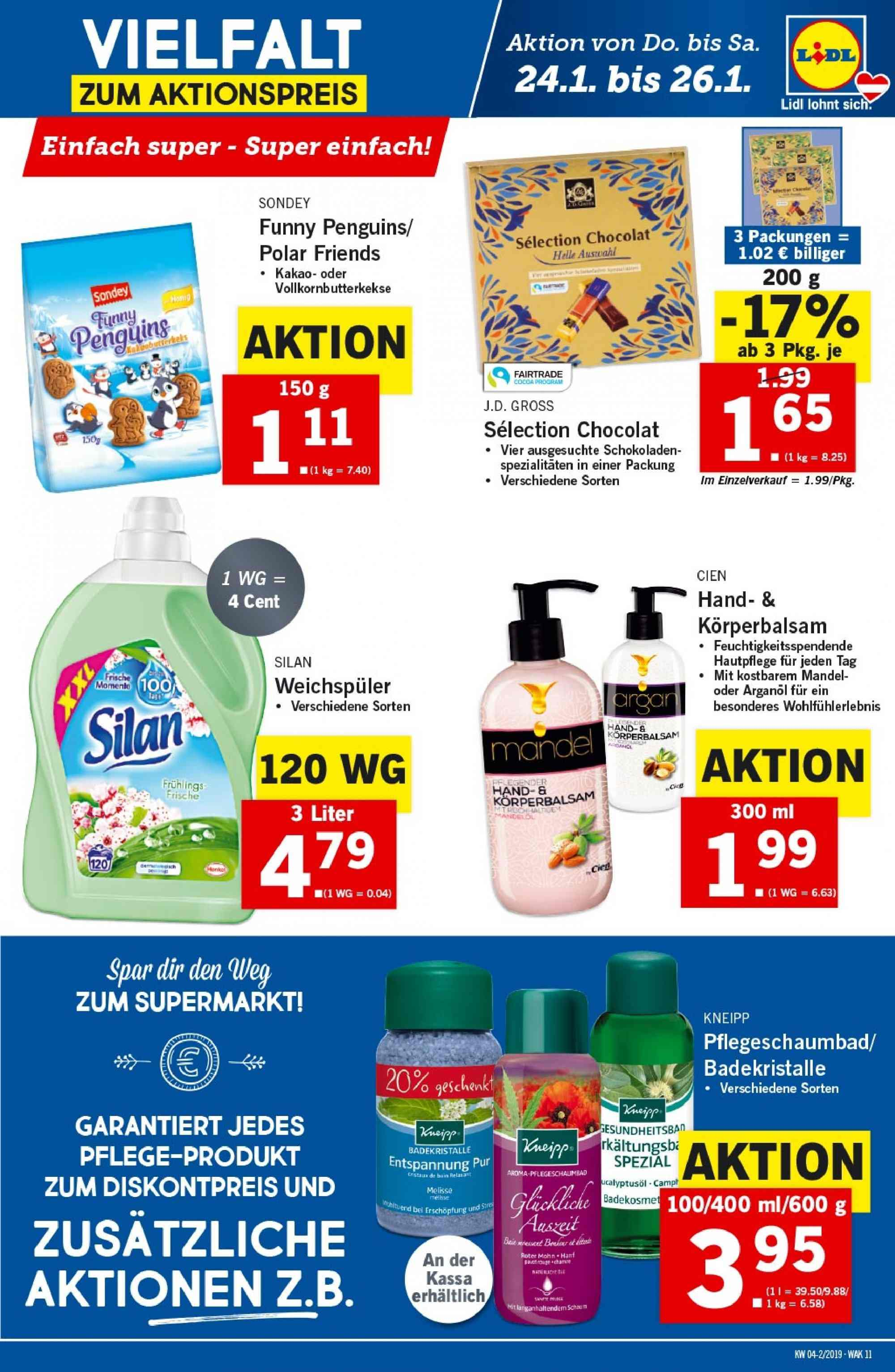 Angebote Lidl - 24.1.2019 - 30.1.2019. Seite 11.