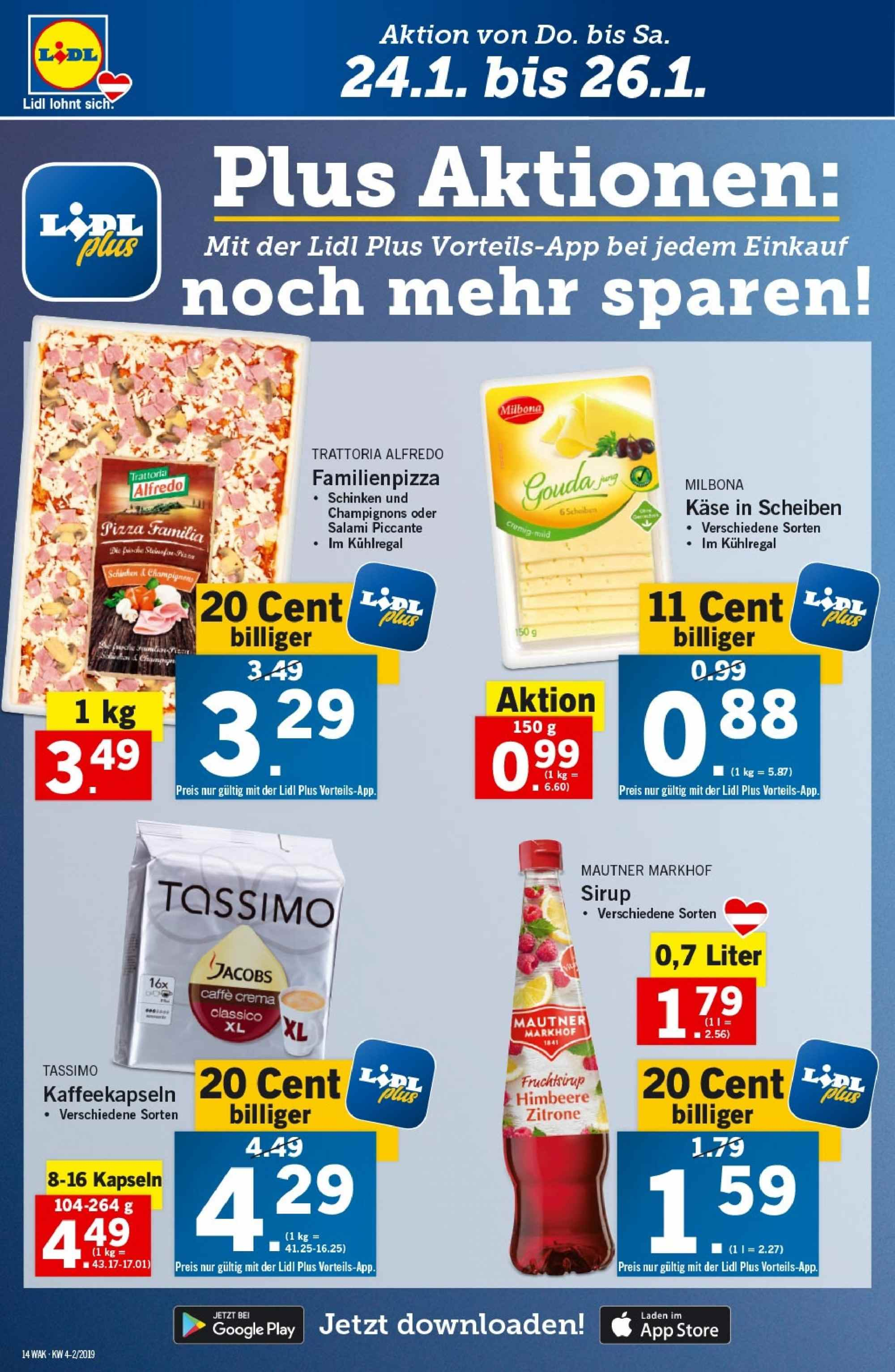 Angebote Lidl - 24.1.2019 - 30.1.2019. Seite 14.