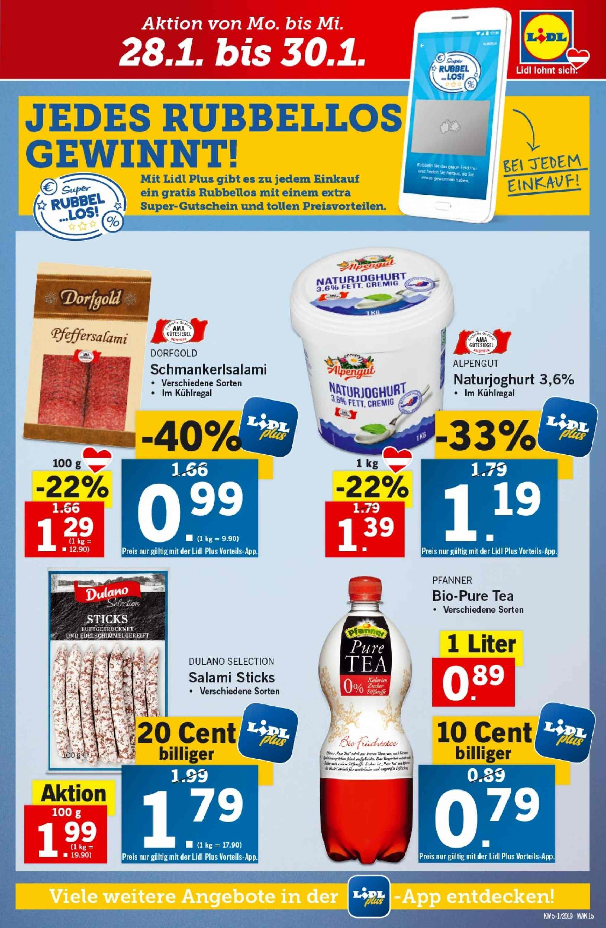 Angebote Lidl - 24.1.2019 - 30.1.2019. Seite 15.