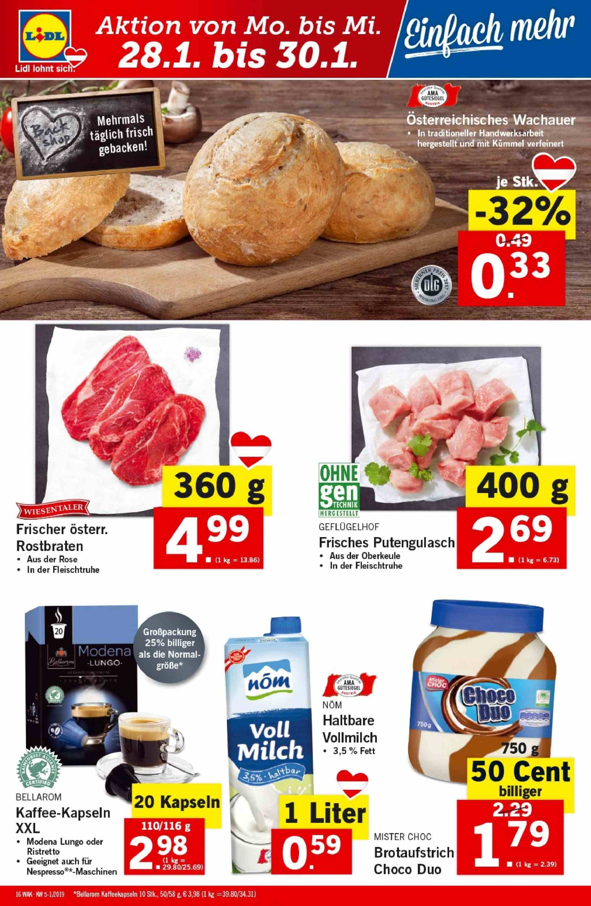 Angebote Lidl - 24.1.2019 - 30.1.2019. Seite 16.