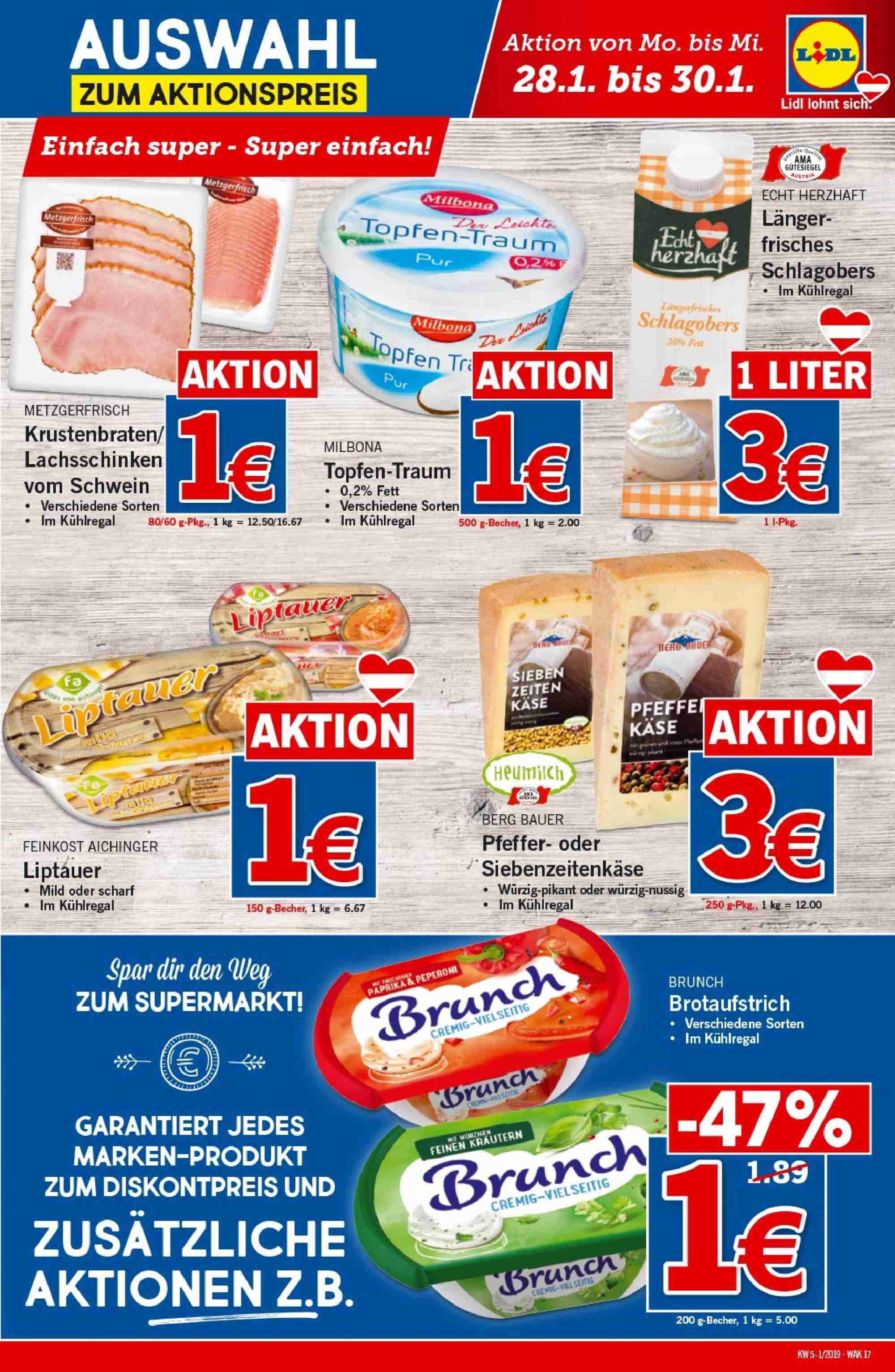 Angebote Lidl - 24.1.2019 - 30.1.2019. Seite 17.