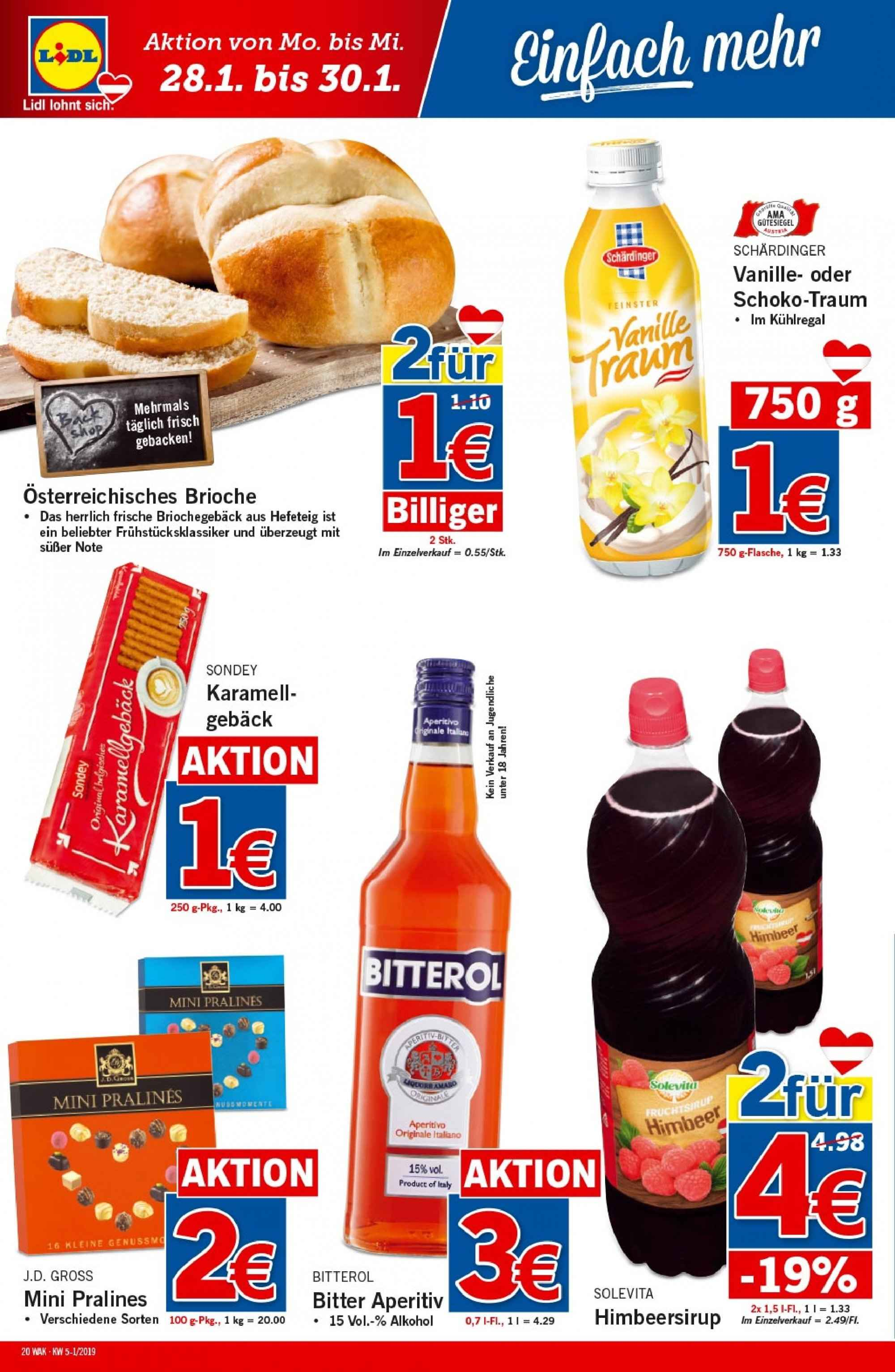 Angebote Lidl - 24.1.2019 - 30.1.2019. Seite 20.