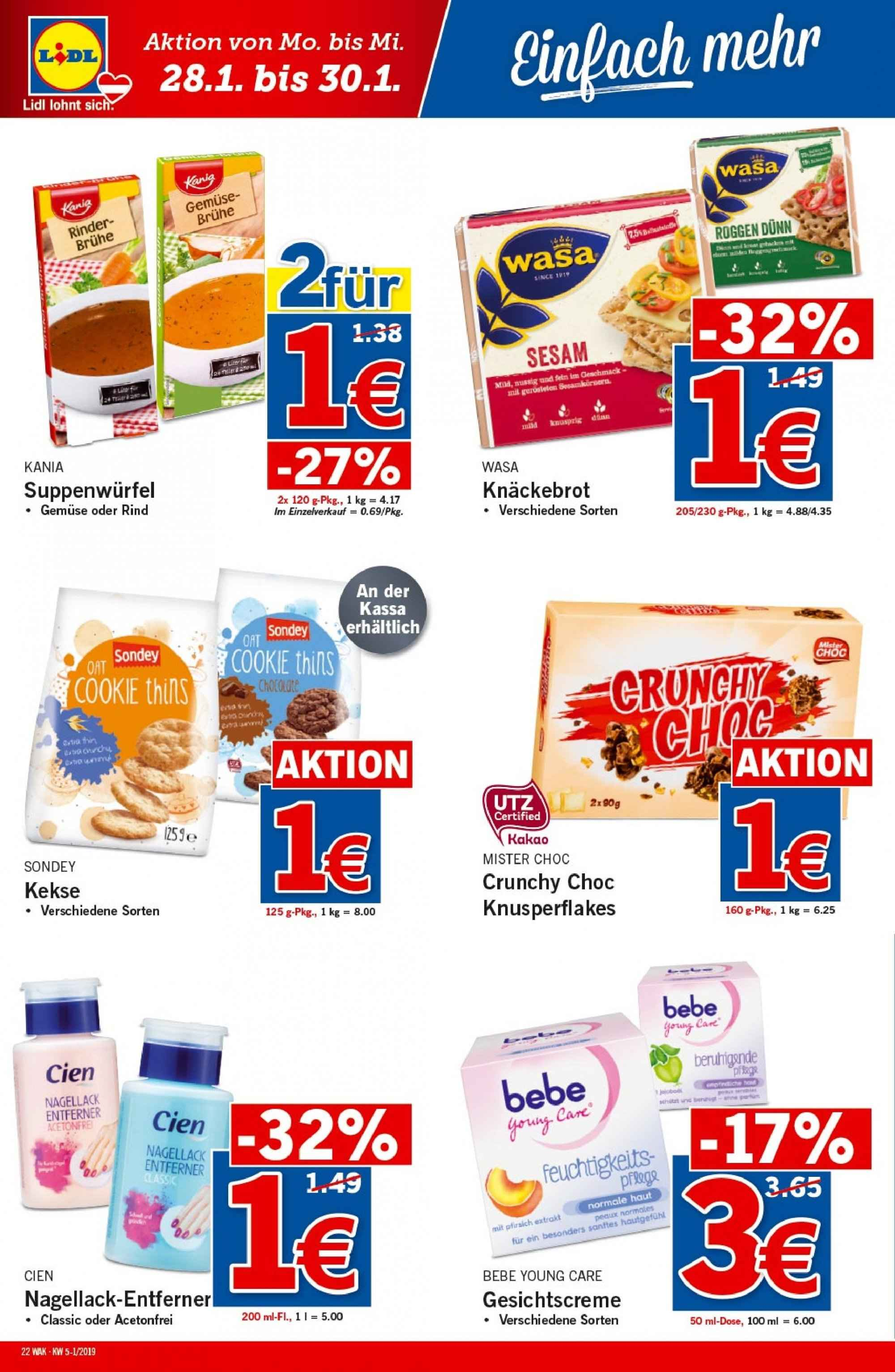 Angebote Lidl - 24.1.2019 - 30.1.2019. Seite 22.