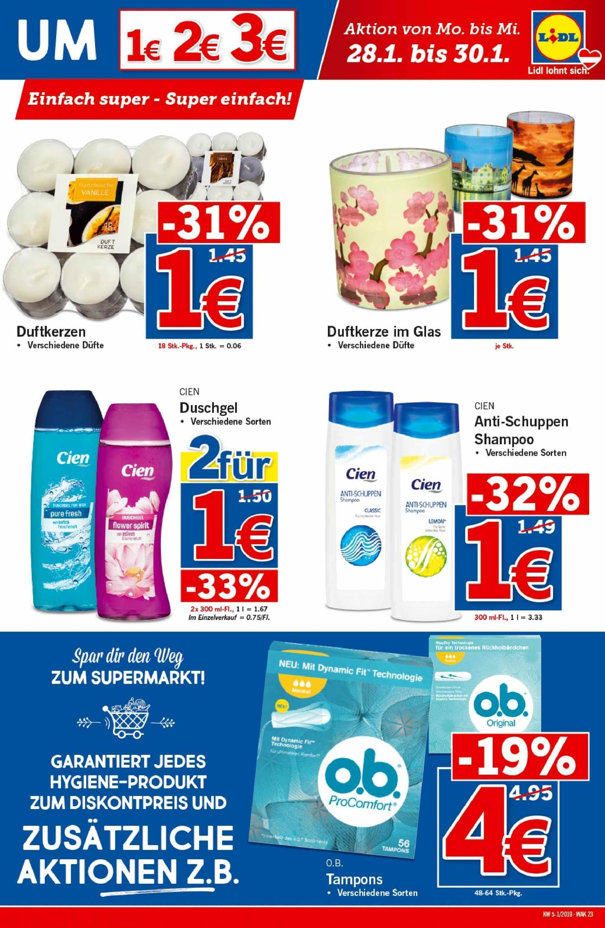 Angebote Lidl - 24.1.2019 - 30.1.2019. Seite 23.