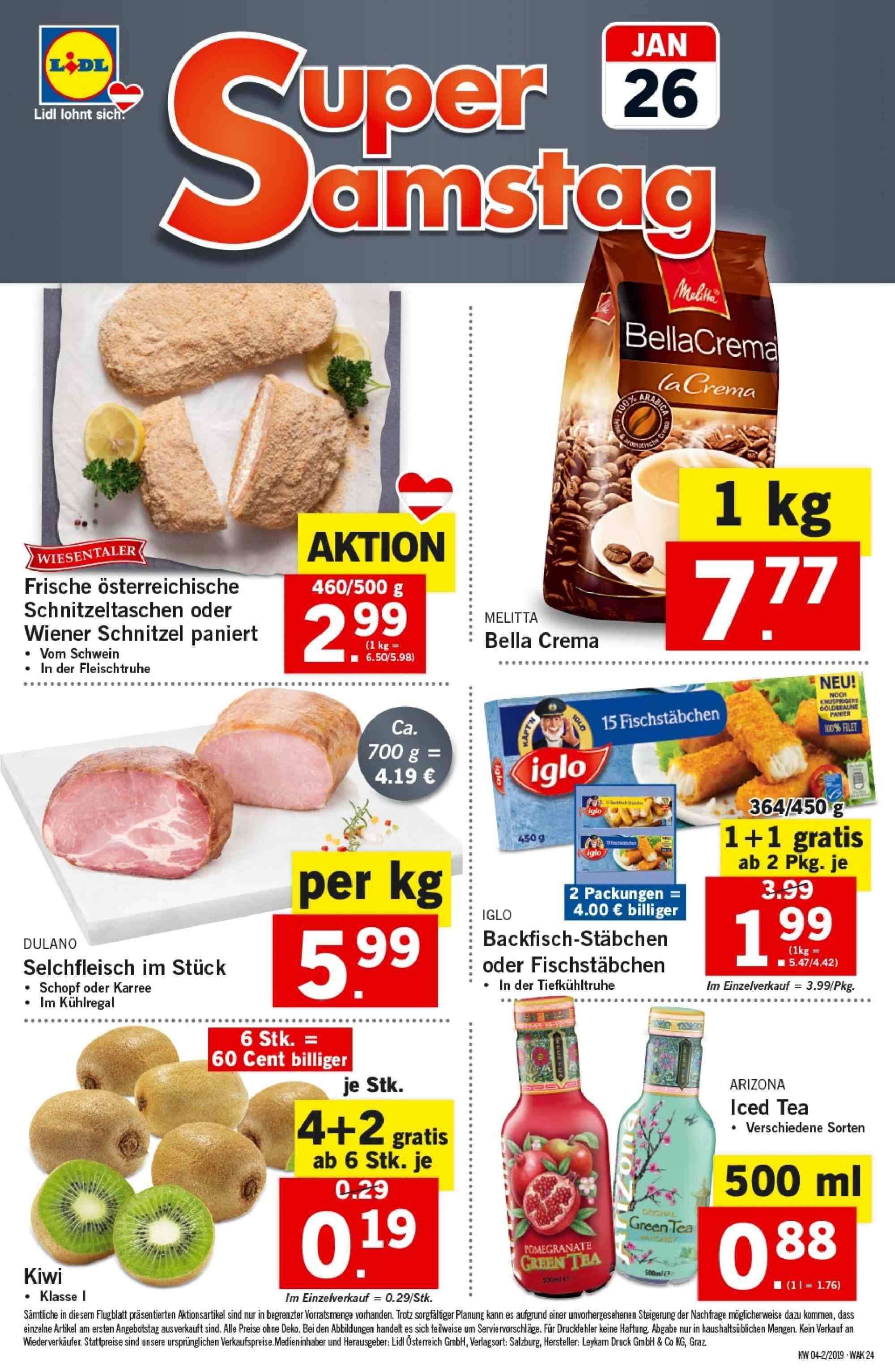 Angebote Lidl - 24.1.2019 - 30.1.2019. Seite 24.