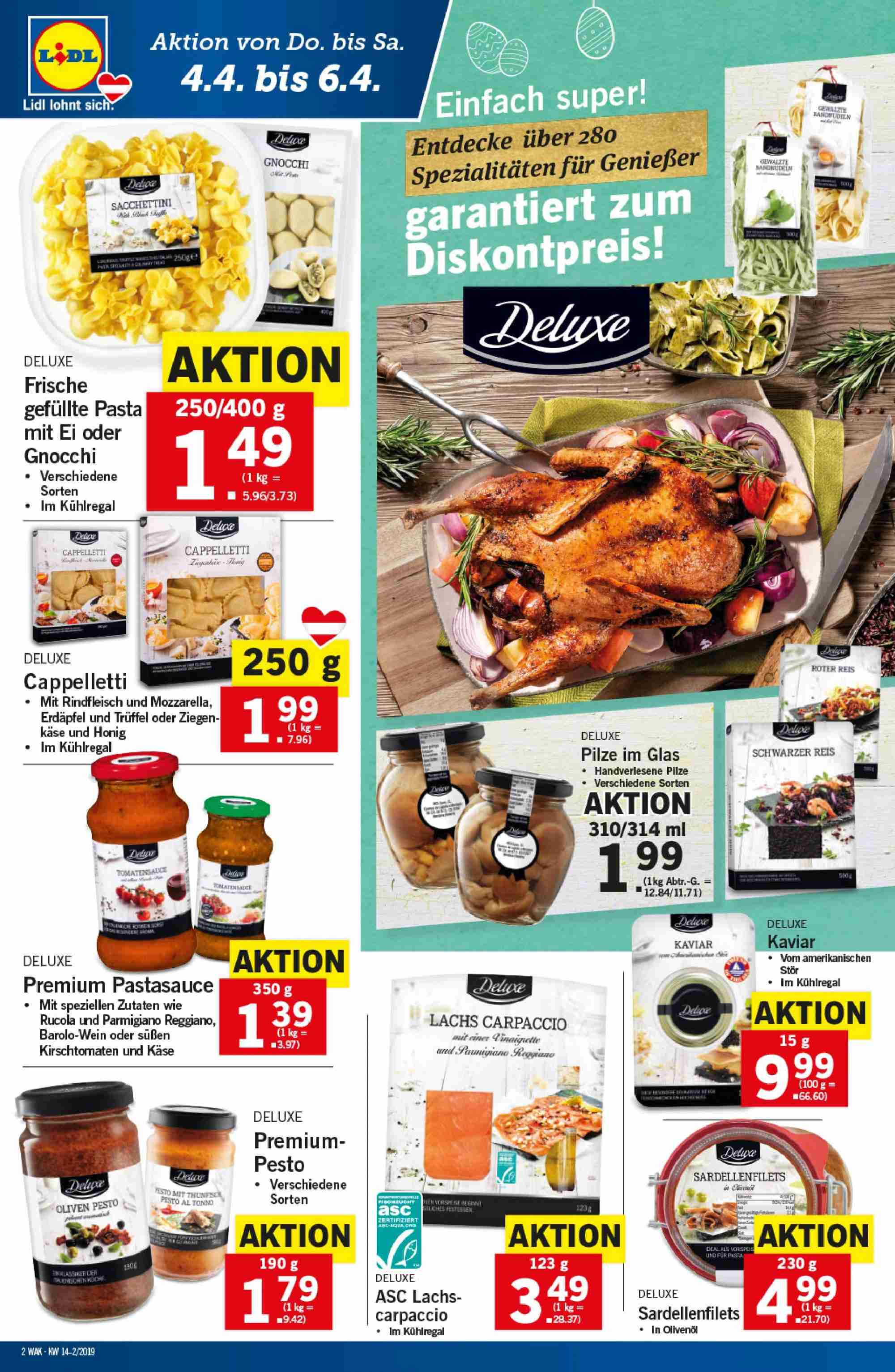 Angebote Lidl - 4.4.2019 - 10.4.2019. Seite 2.