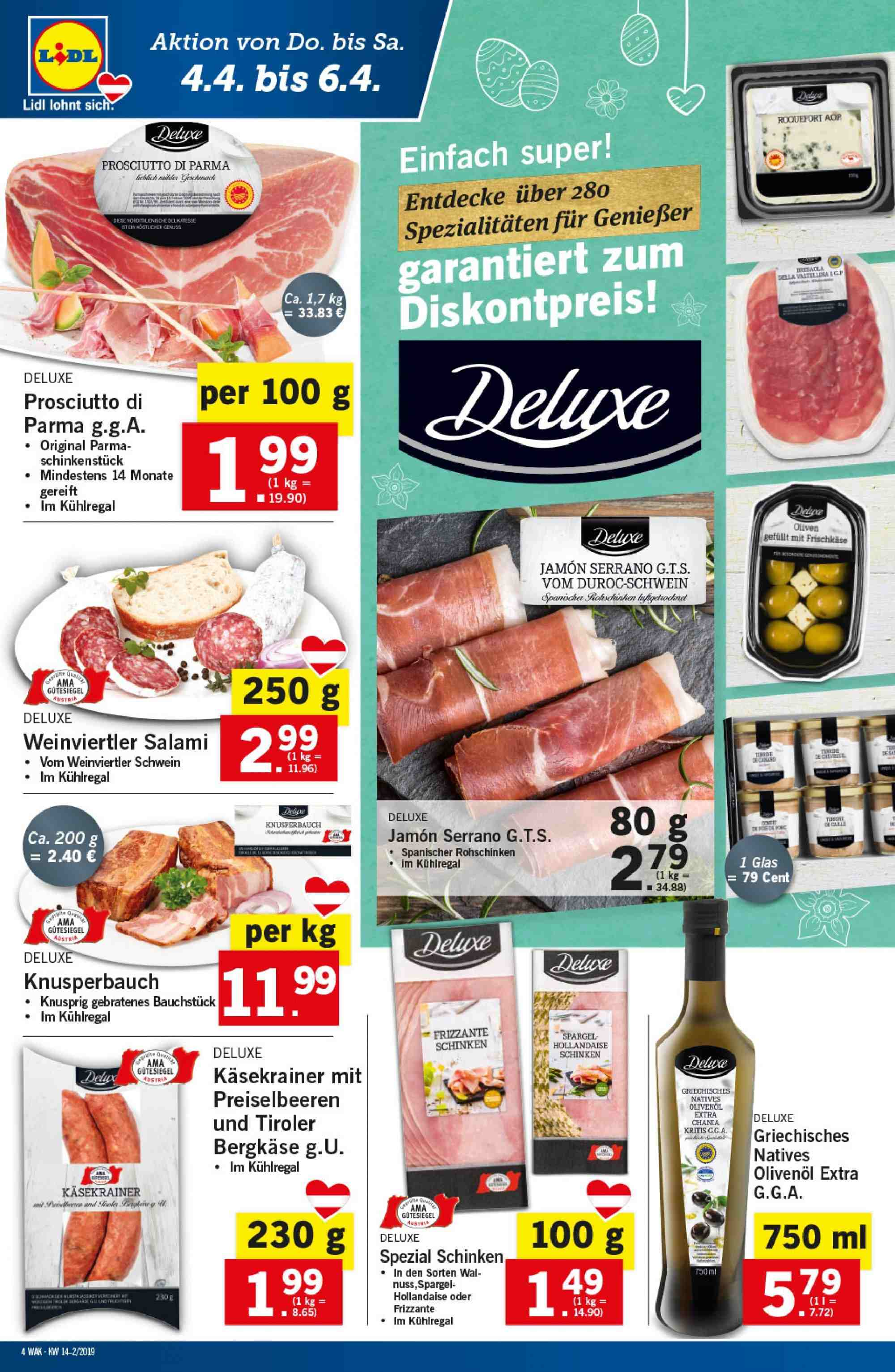 Angebote Lidl - 4.4.2019 - 10.4.2019. Seite 4.