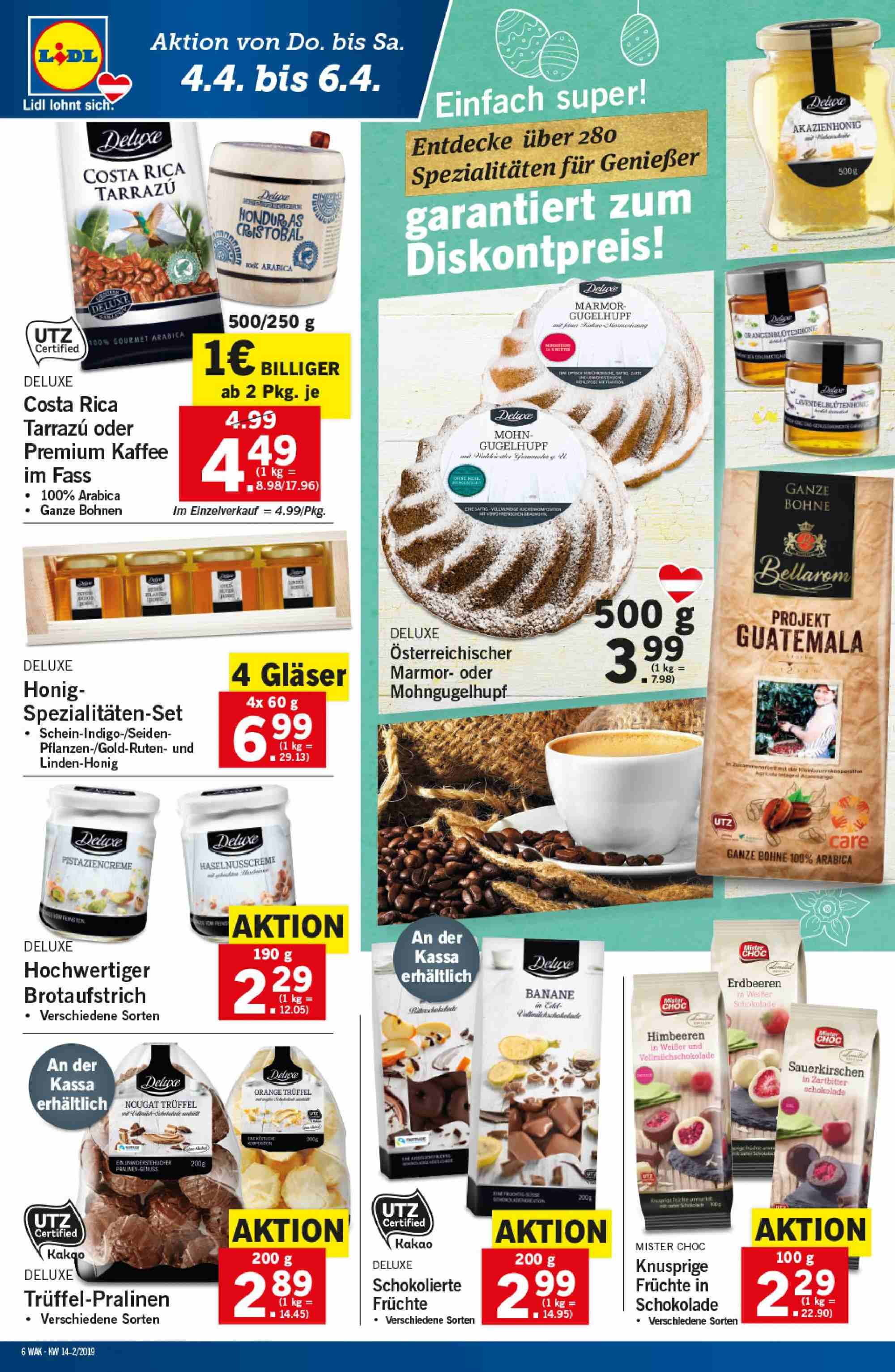 Angebote Lidl - 4.4.2019 - 10.4.2019. Seite 6.