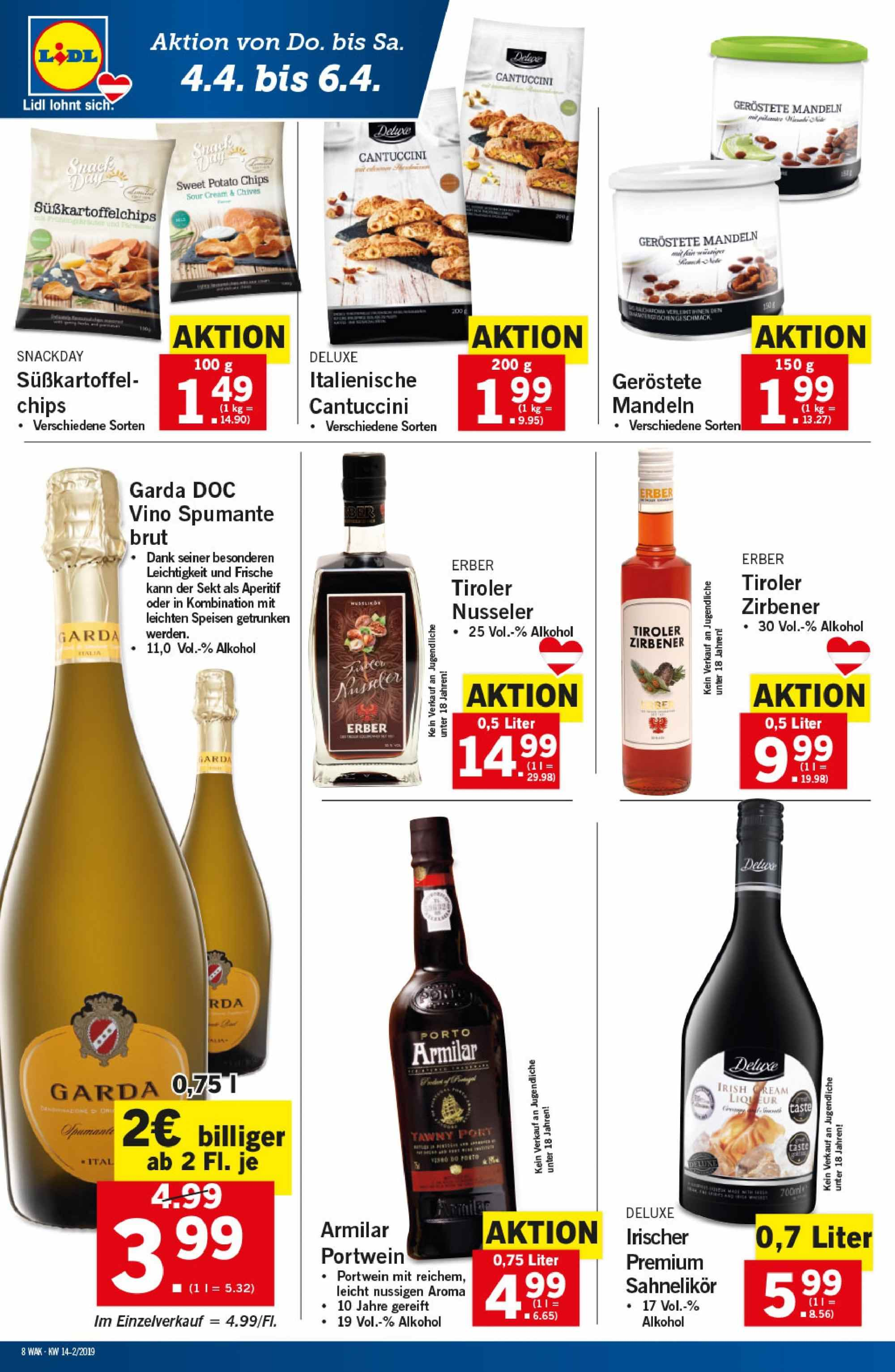 Angebote Lidl - 4.4.2019 - 10.4.2019. Seite 8.