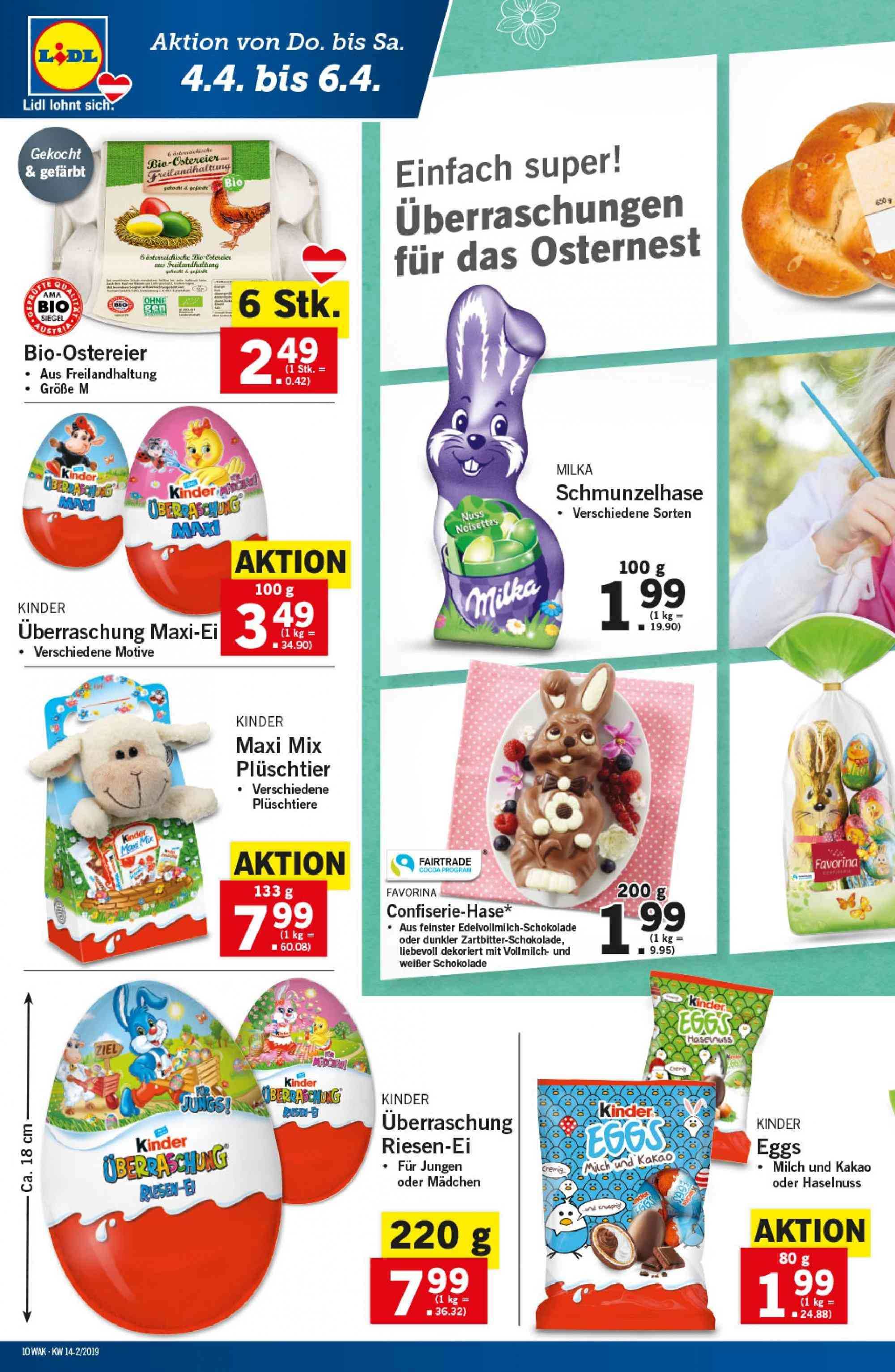 Angebote Lidl - 4.4.2019 - 10.4.2019. Seite 10.