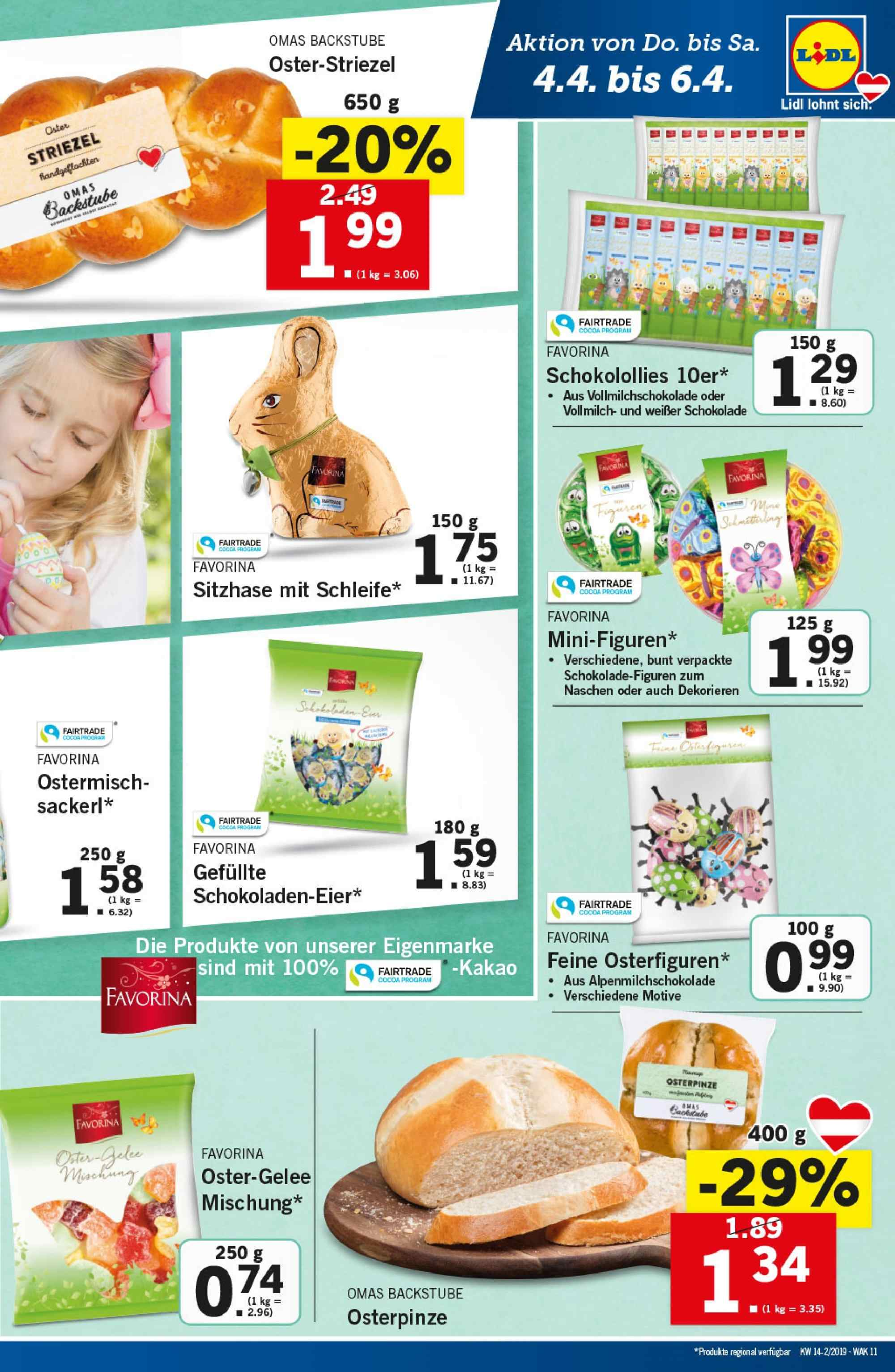 Angebote Lidl - 4.4.2019 - 10.4.2019. Seite 11.