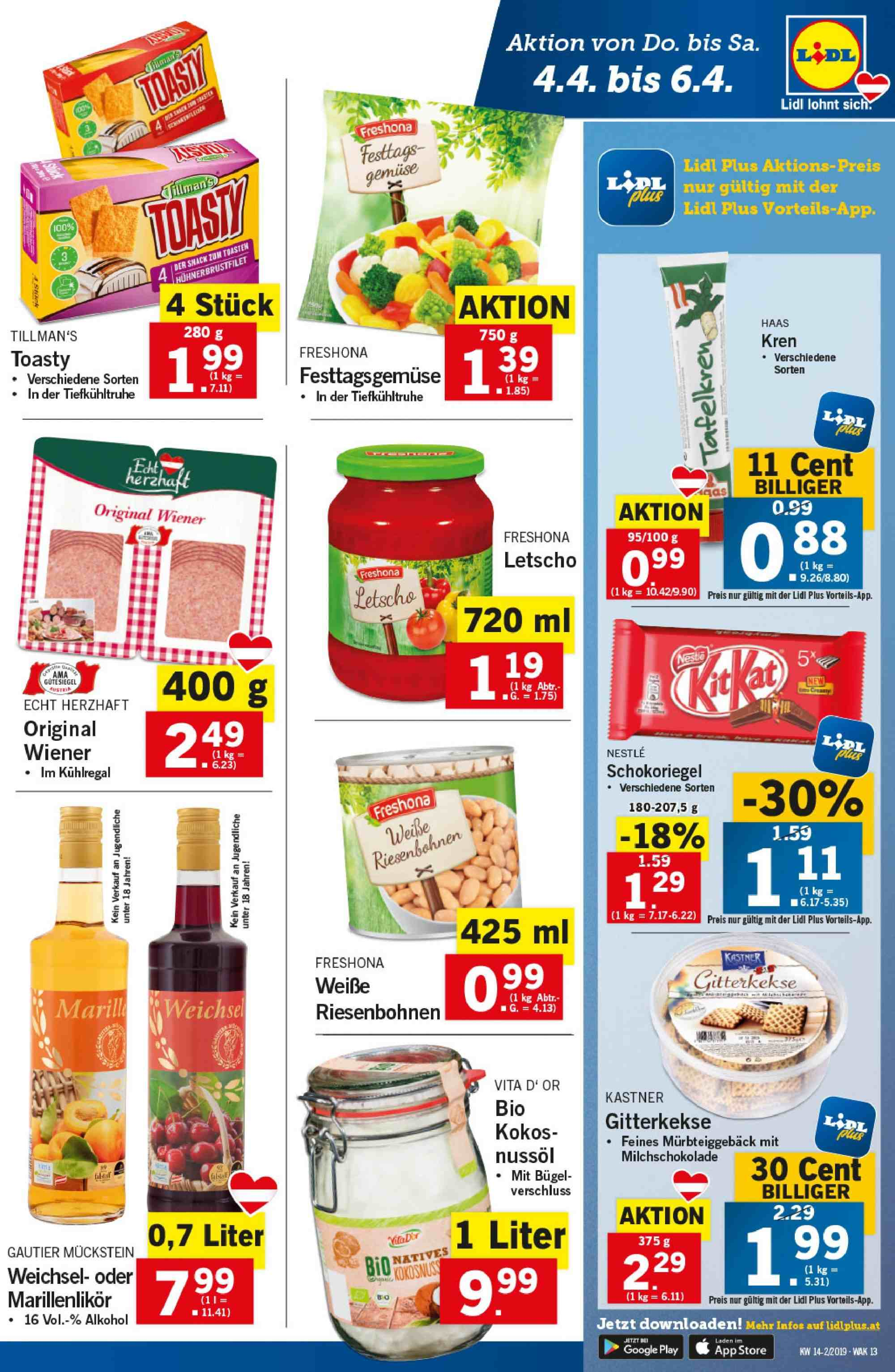 Angebote Lidl - 4.4.2019 - 10.4.2019. Seite 13.