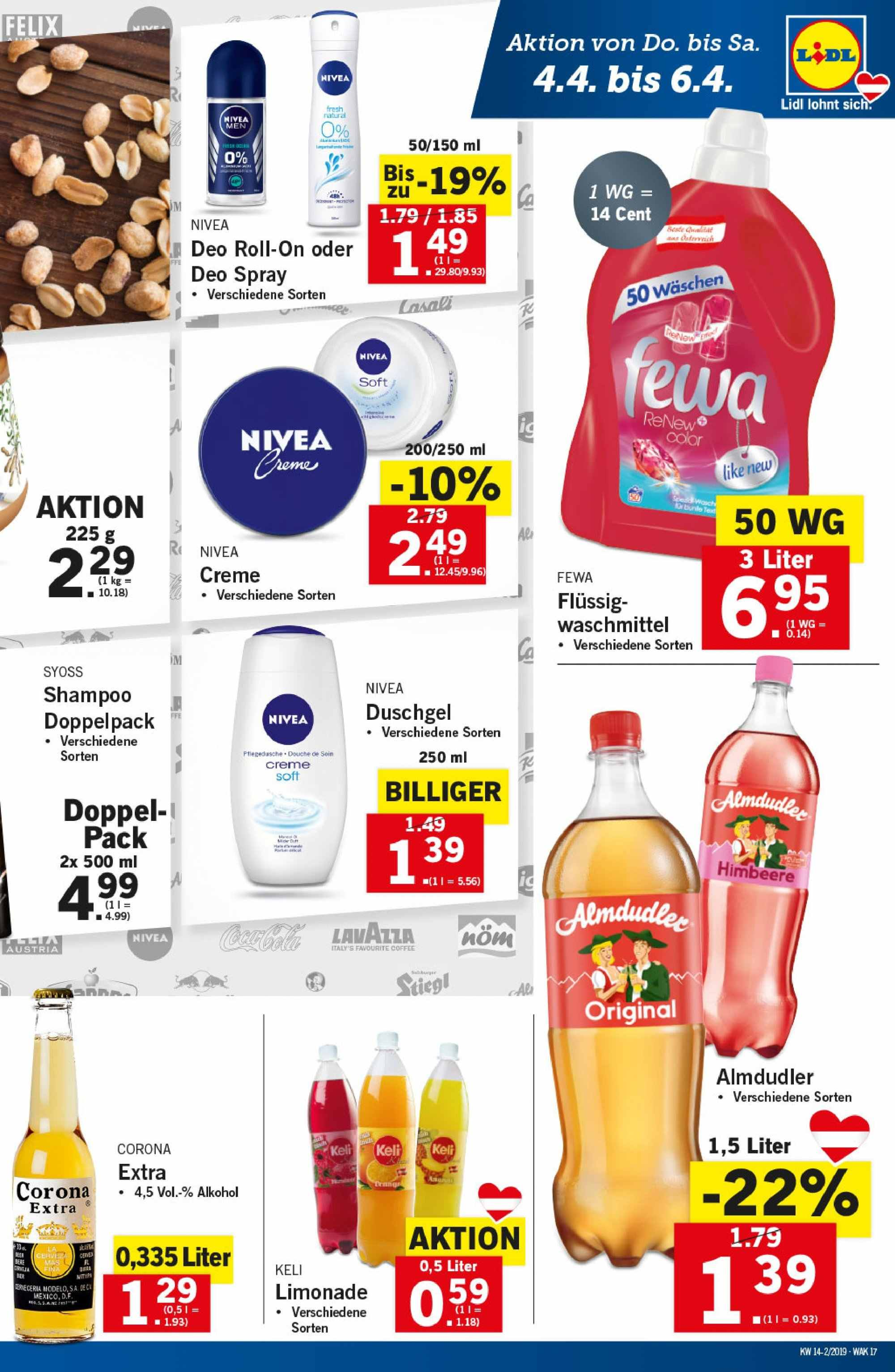 Angebote Lidl - 4.4.2019 - 10.4.2019. Seite 17.