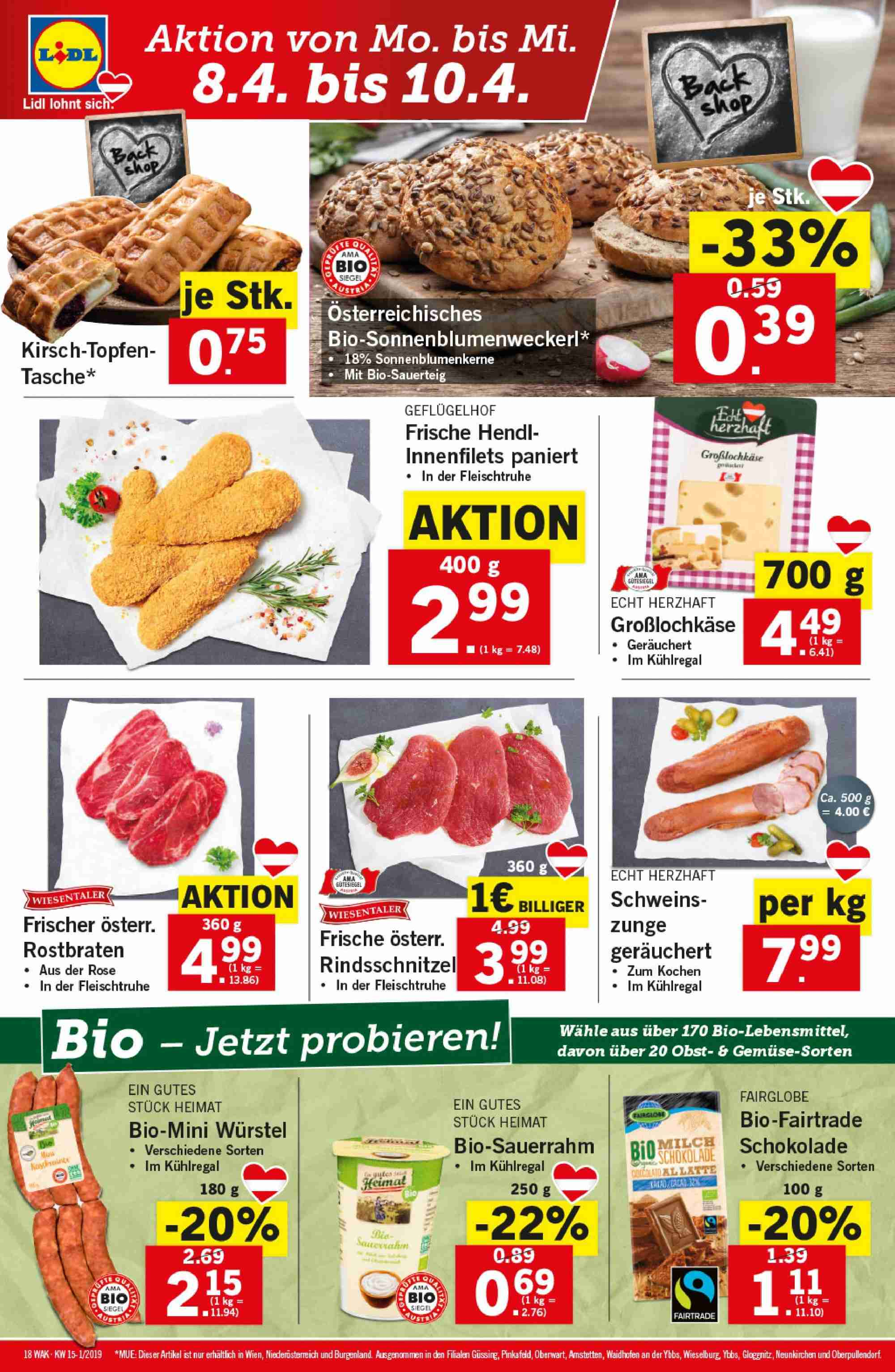 Angebote Lidl - 4.4.2019 - 10.4.2019. Seite 18.