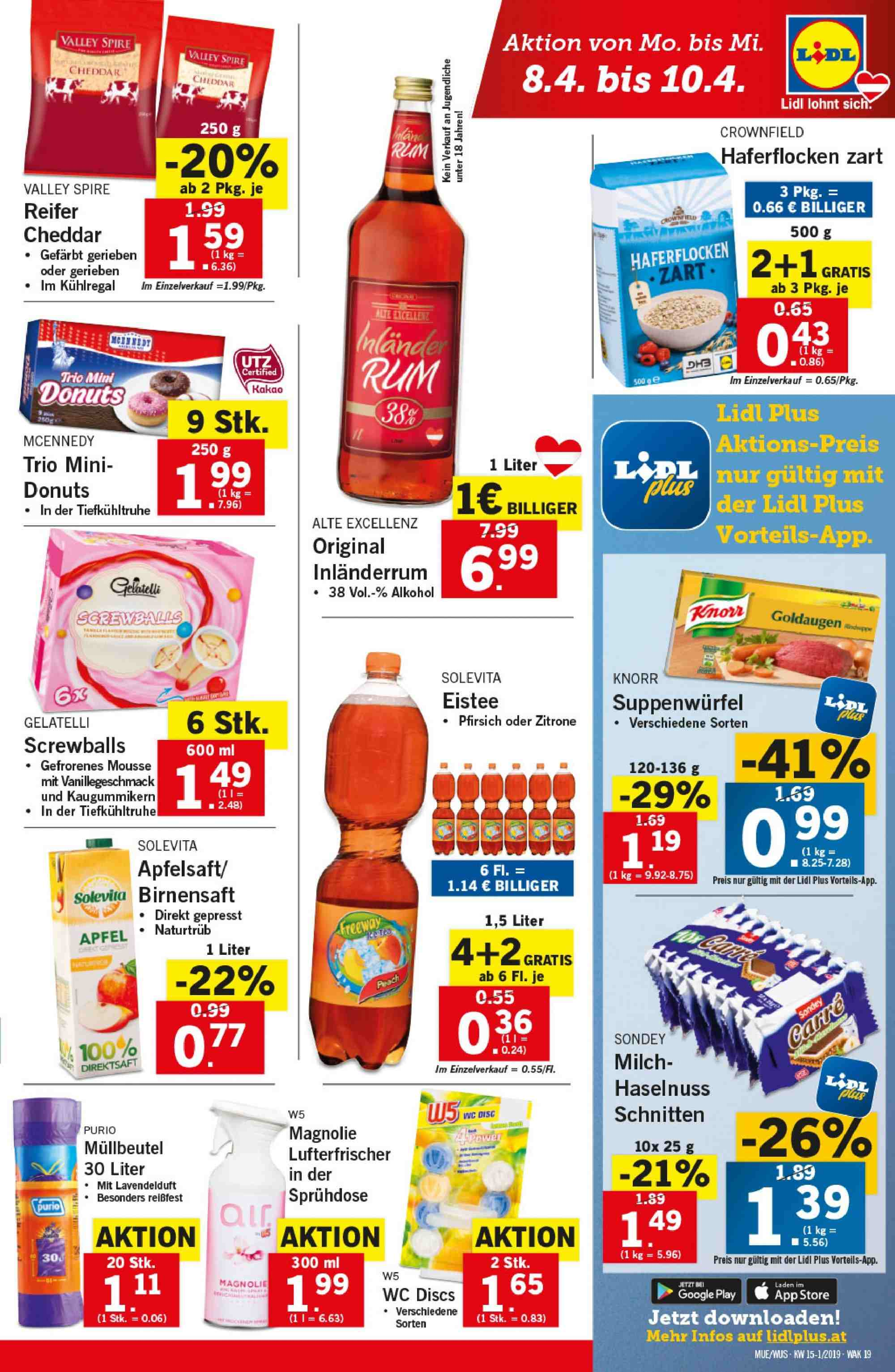 Angebote Lidl - 4.4.2019 - 10.4.2019. Seite 19.