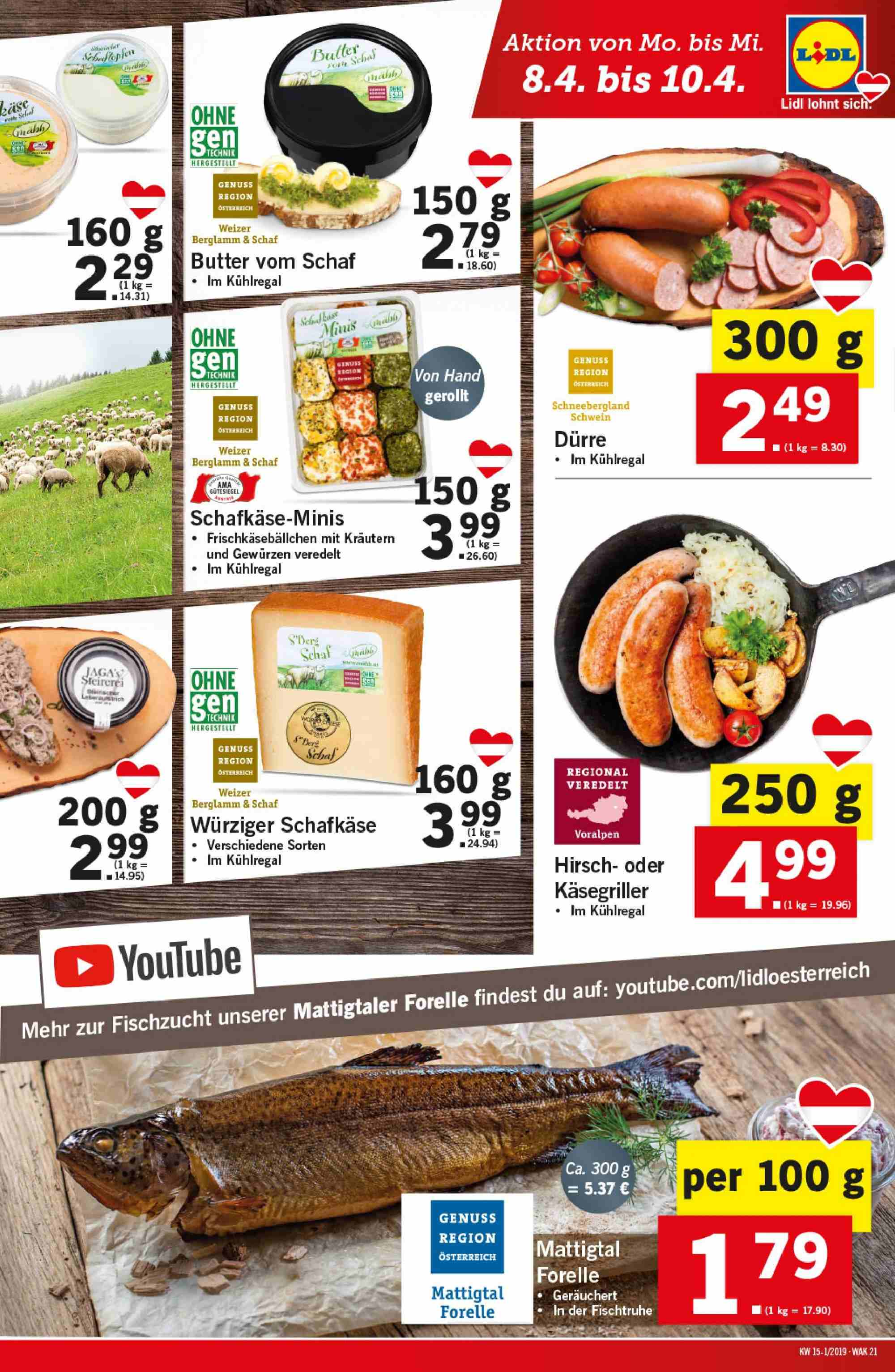 Angebote Lidl - 4.4.2019 - 10.4.2019. Seite 21.