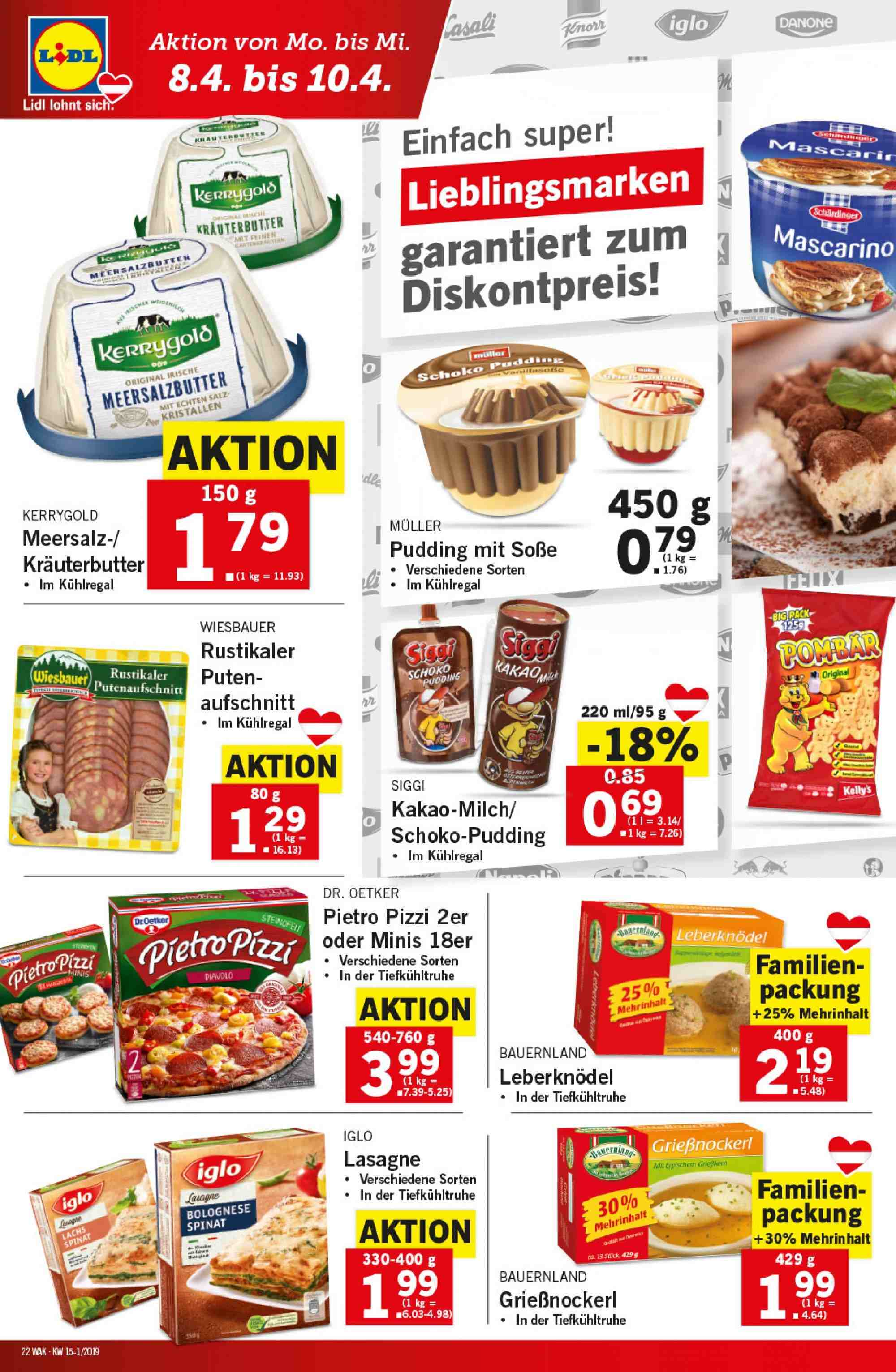 Angebote Lidl - 4.4.2019 - 10.4.2019. Seite 22.
