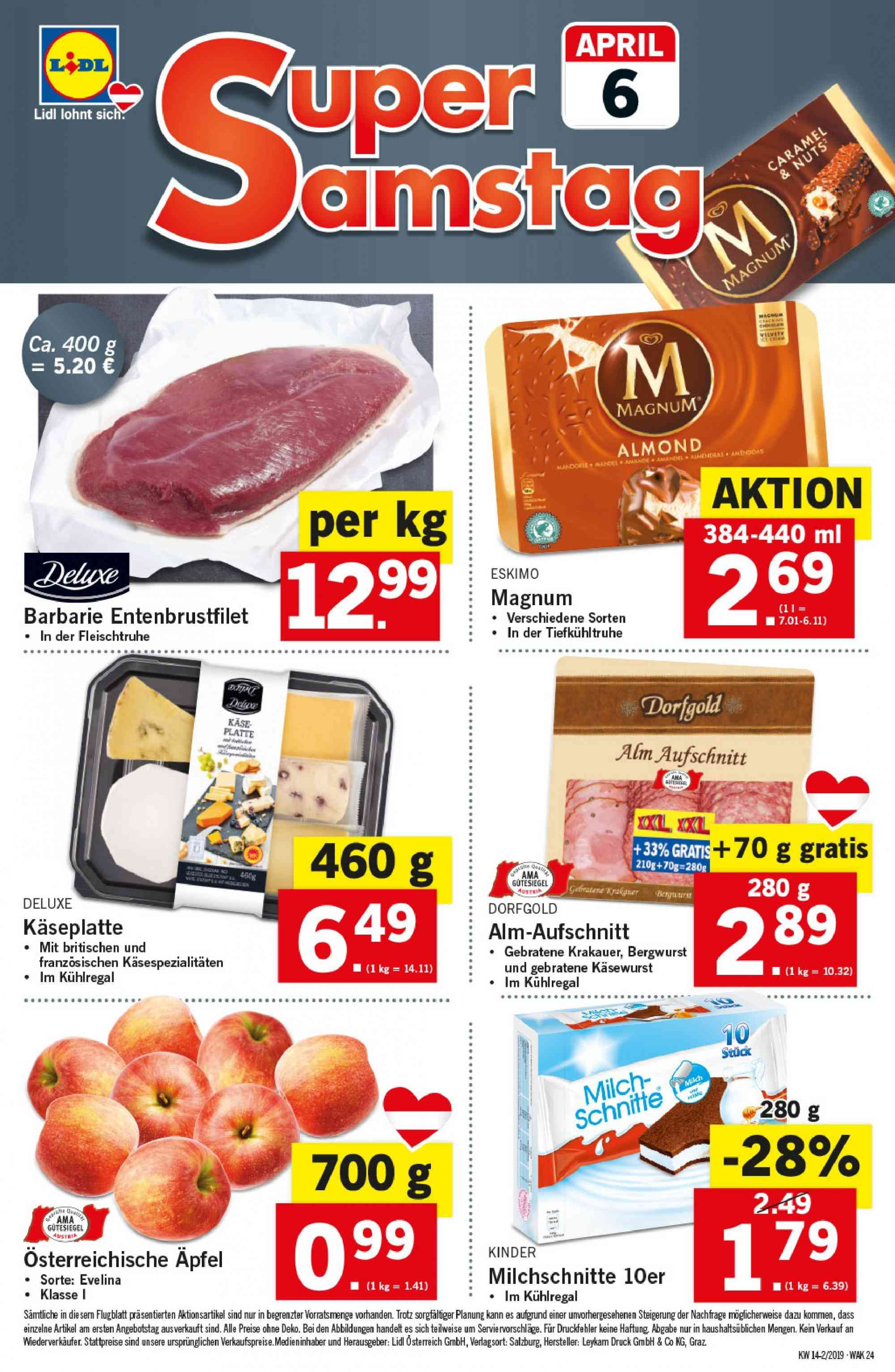 Angebote Lidl - 4.4.2019 - 10.4.2019. Seite 24.