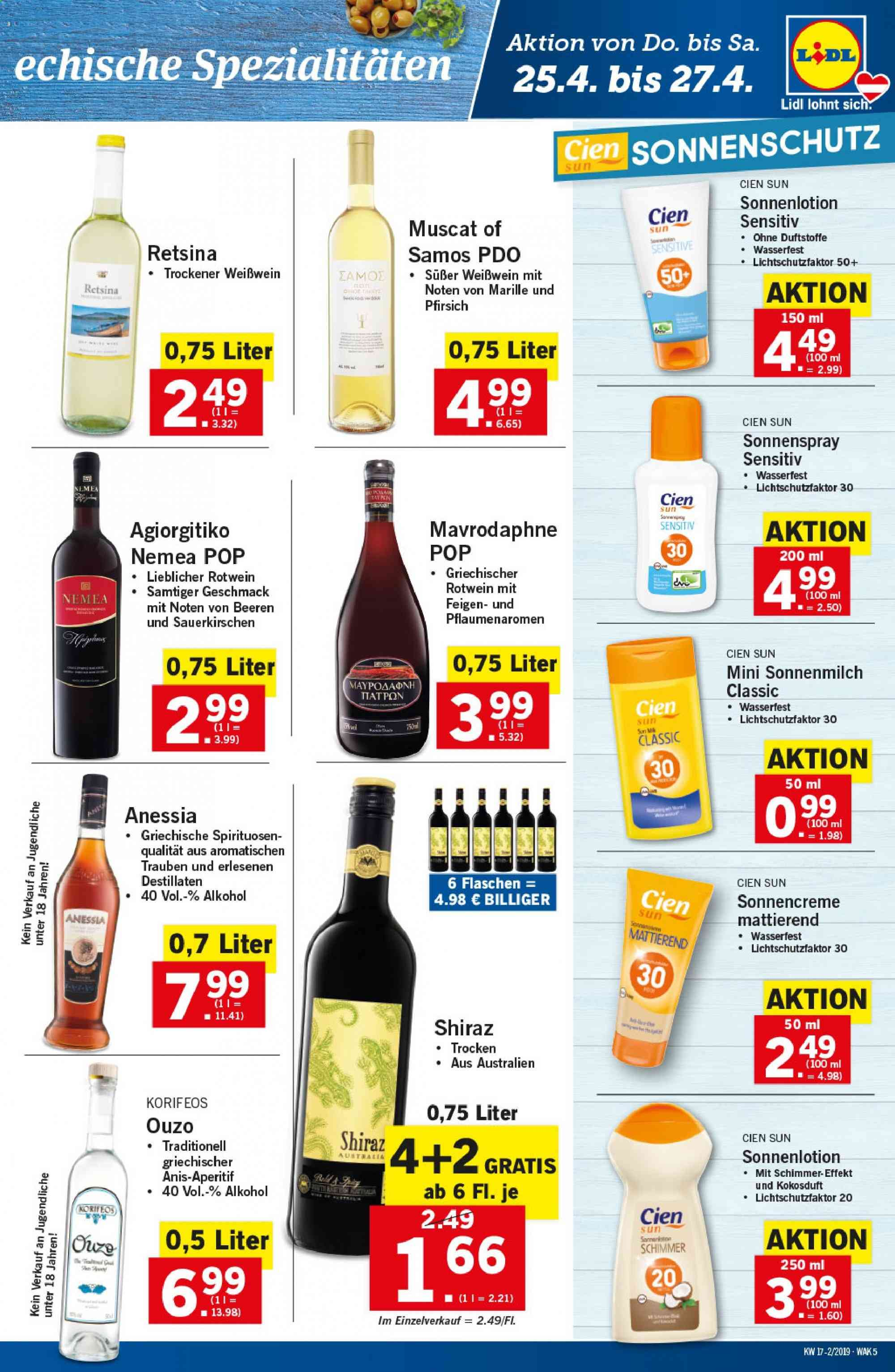 Angebote Lidl - 25.4.2019 - 30.4.2019. Seite 5.
