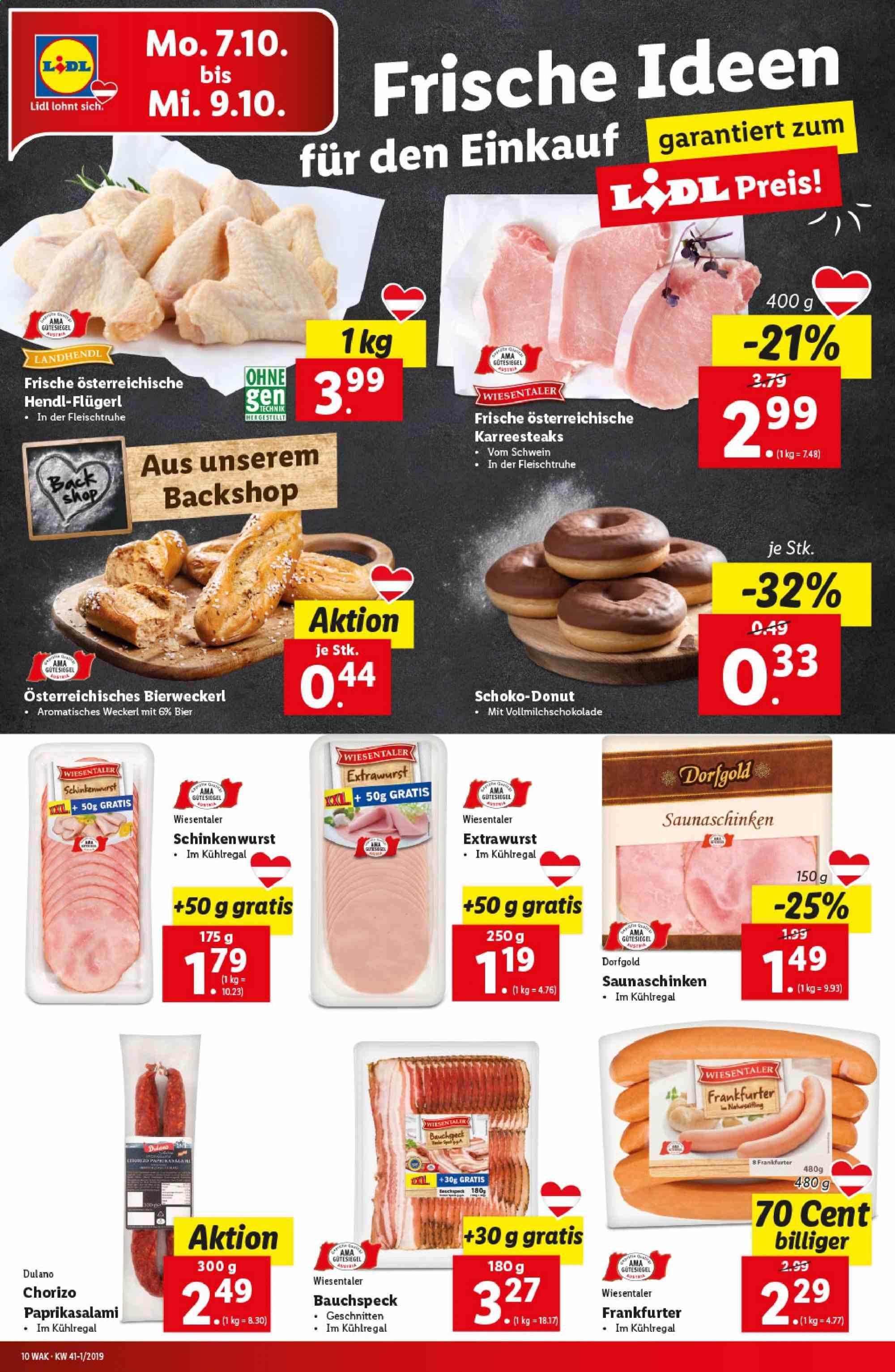 Angebote Lidl - 3.10.2019 - 9.10.2019. Seite 10.