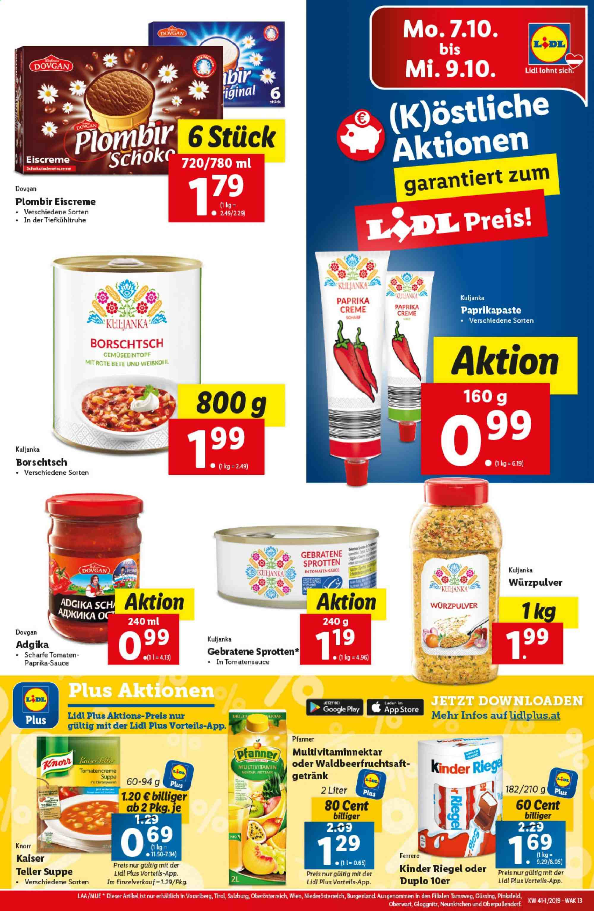 Angebote Lidl - 3.10.2019 - 9.10.2019. Seite 13.