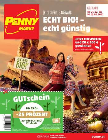 Angebote Penny - 25.2.2021 - 3.3.2021.