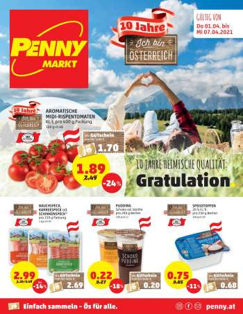 Angebote Penny - 1.4.2021 - 7.4.2021.