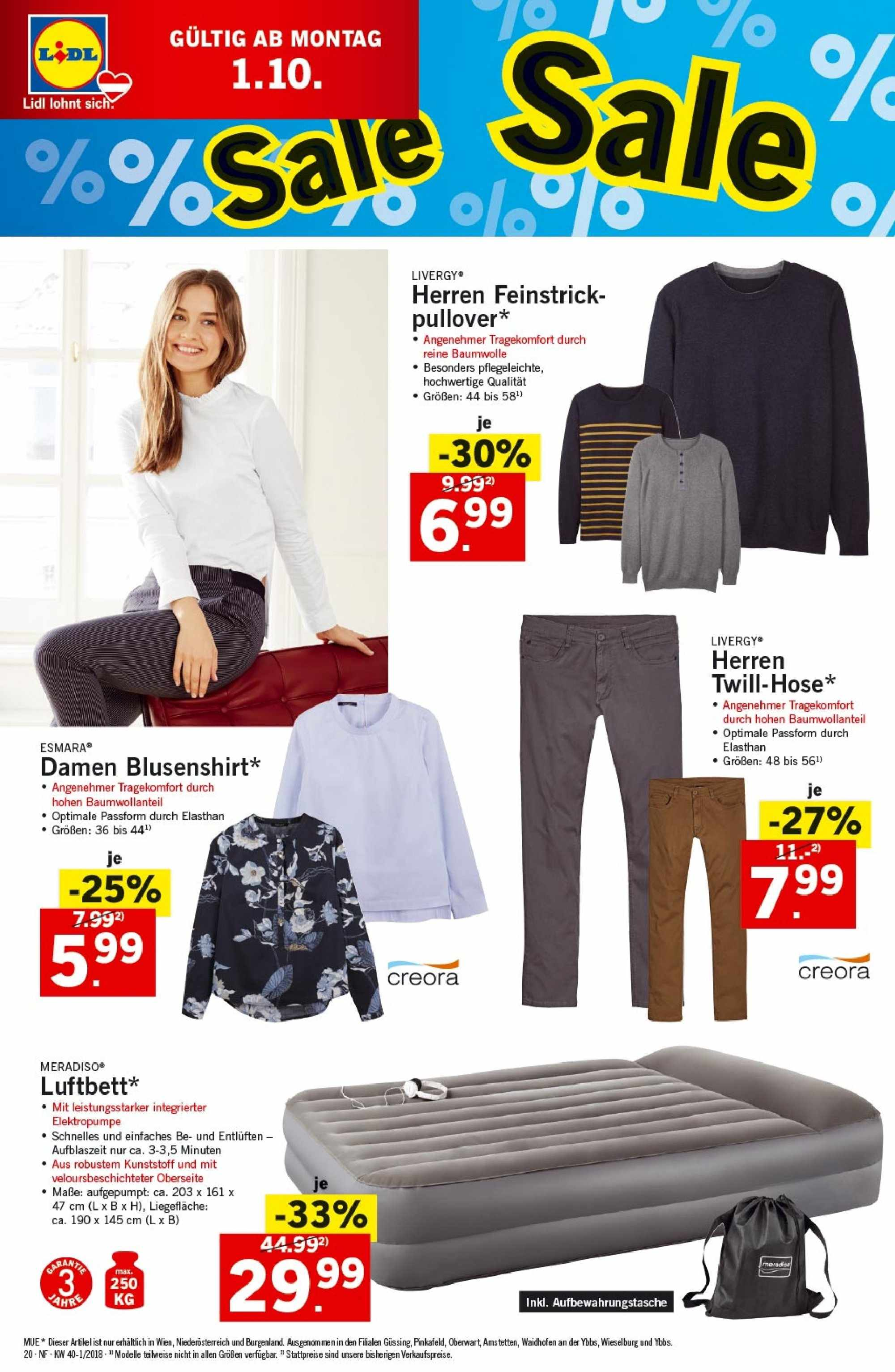Angebote Lidl - 27.9.2018 - 3.10.2018. Seite 20.