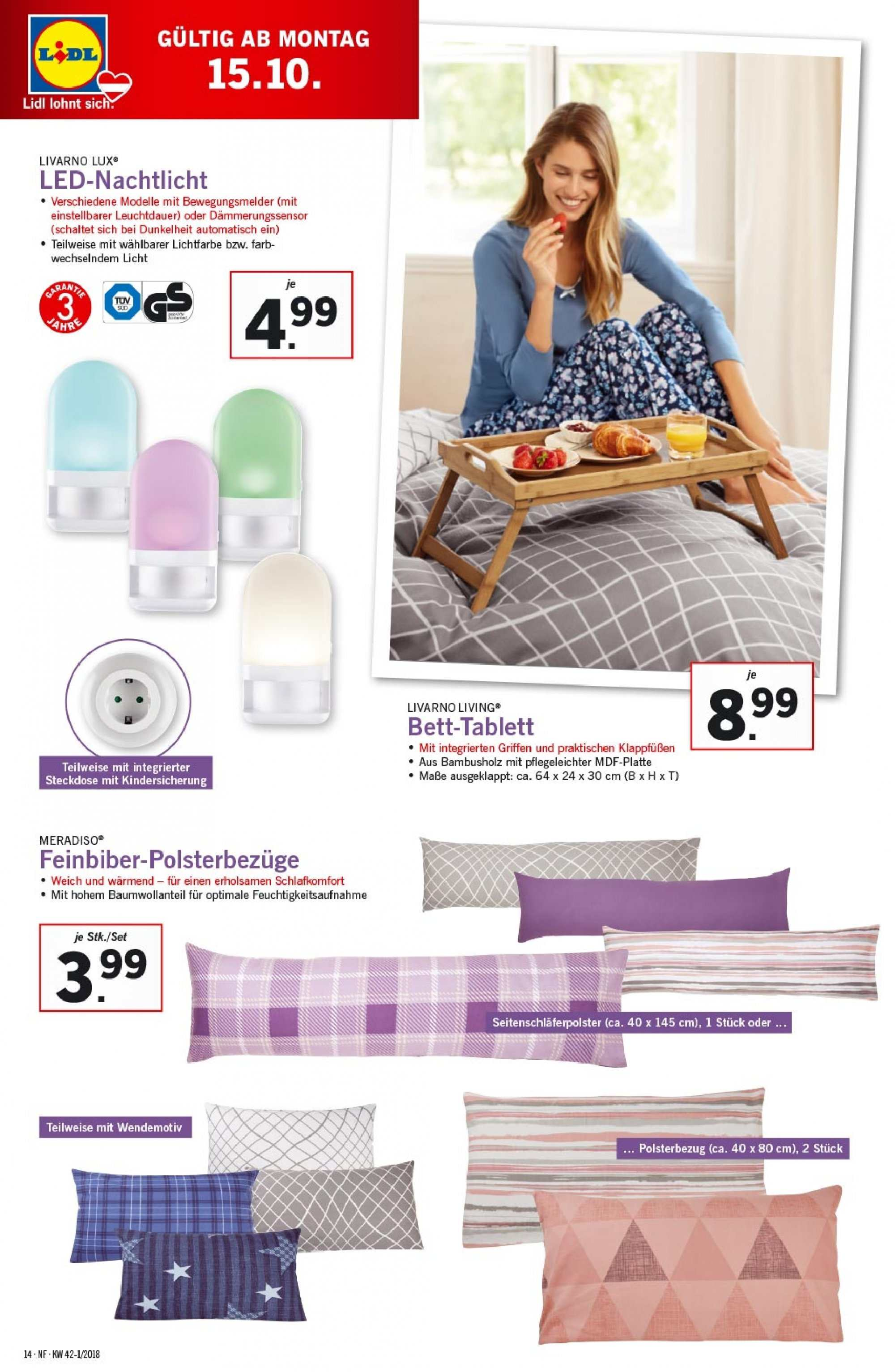 Angebote Lidl - 11.10.2018 - 17.10.2018. Seite 14.