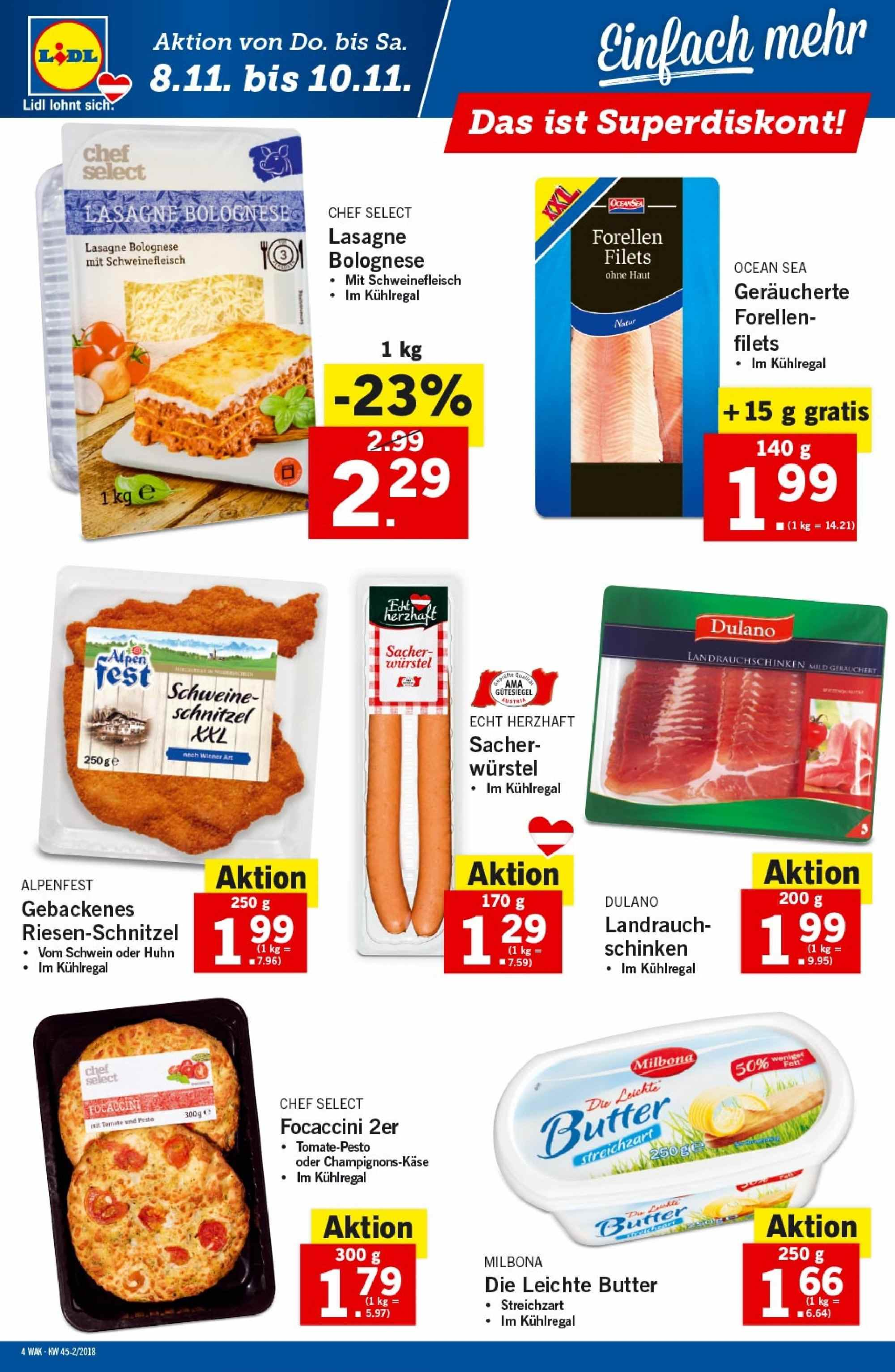 Angebote Lidl - 8.11.2018 - 14.11.2018. Seite 4.