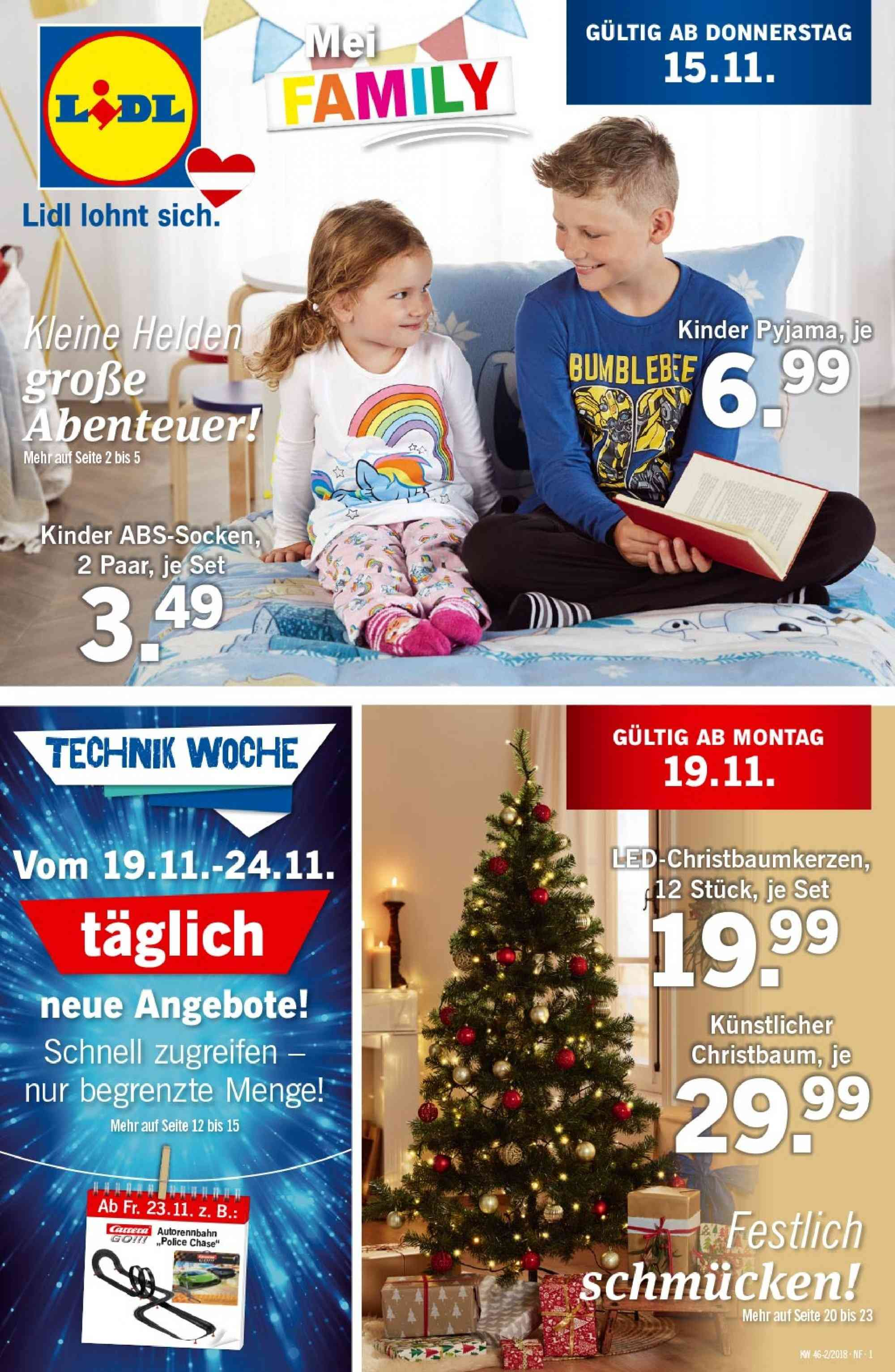 Angebote Lidl - 15.11.2018 - 21.11.2018. Seite 1.