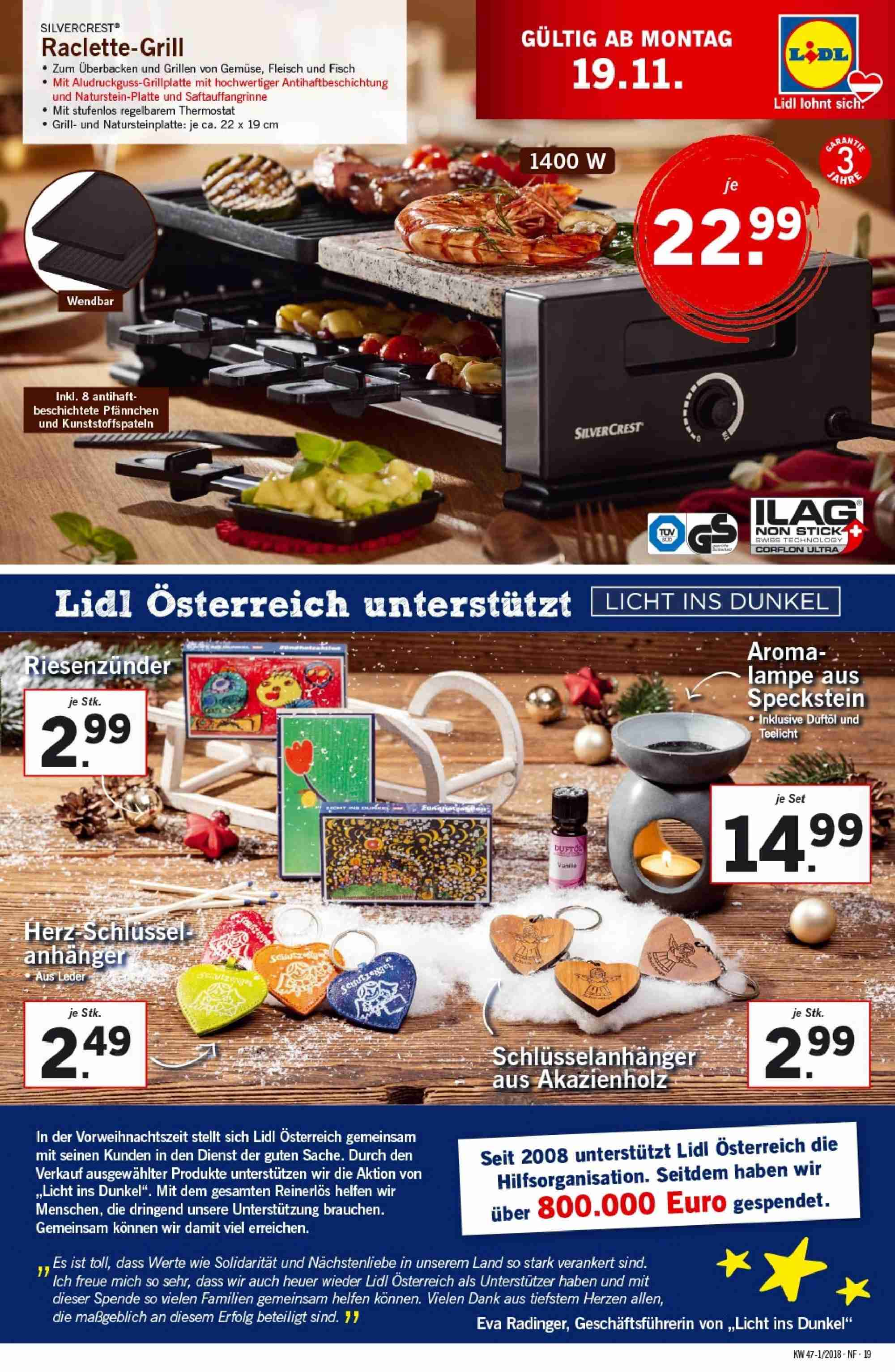 Angebote Lidl - 15.11.2018 - 21.11.2018. Seite 19.