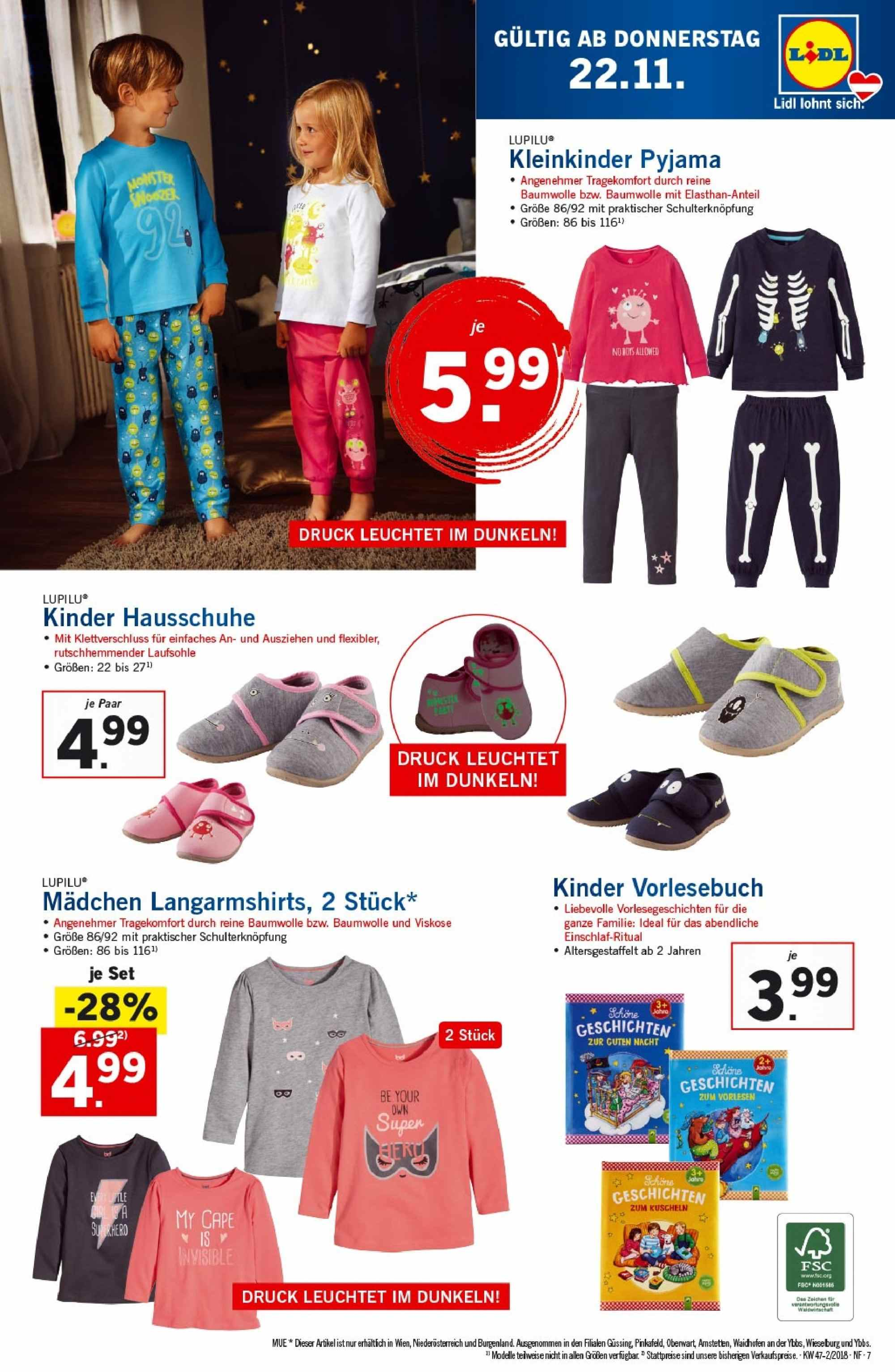 Angebote Lidl - 22.11.2018 - 28.11.2018. Seite 7.