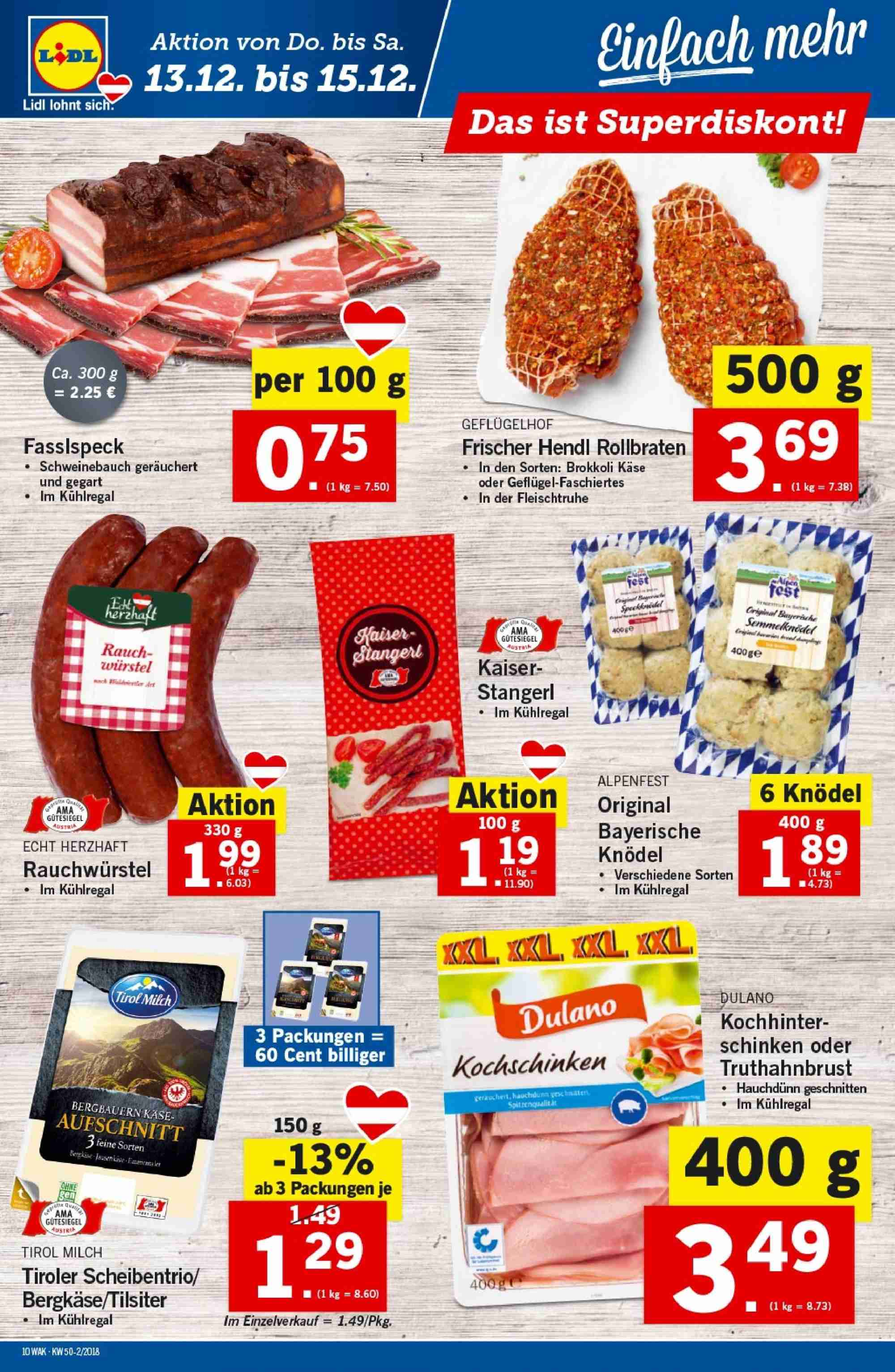 Angebote Lidl - 13.12.2018 - 19.12.2018. Seite 10.
