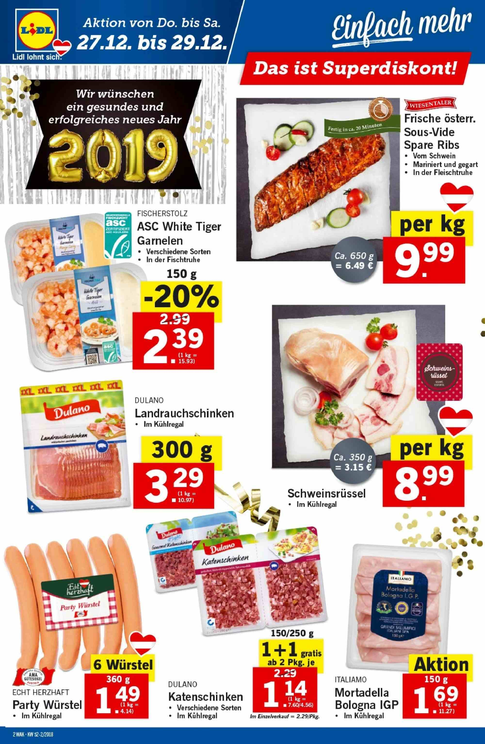 Angebote Lidl - 27.12.2018 - 2.1.2019. Seite 2.
