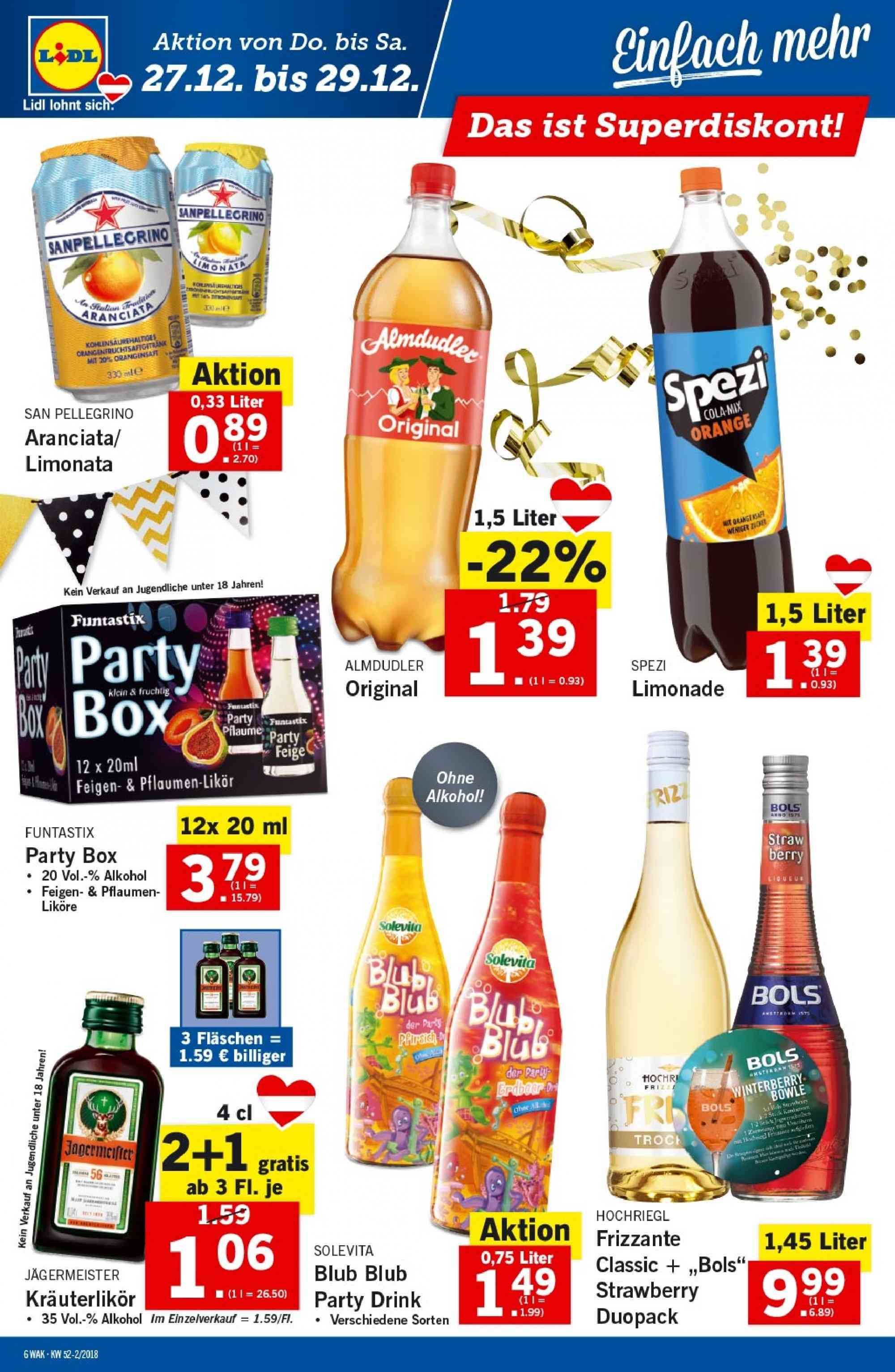 Angebote Lidl - 27.12.2018 - 2.1.2019. Seite 6.
