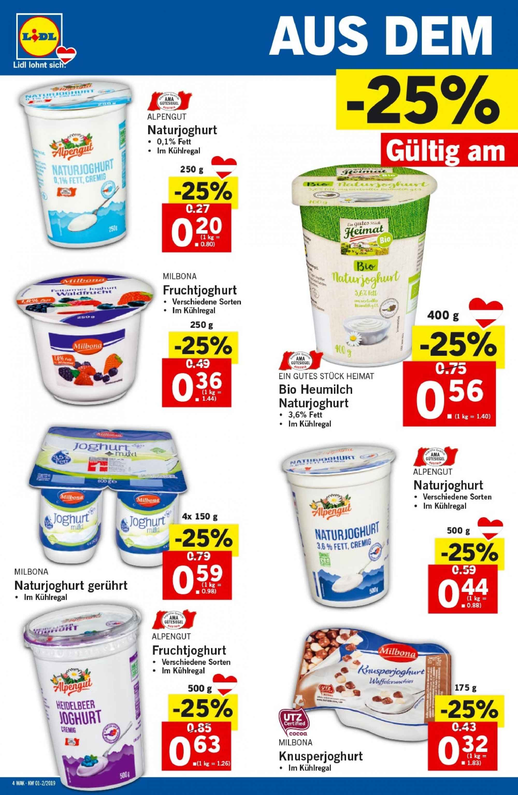 Angebote Lidl - 3.1.2019 - 9.1.2019. Seite 4.